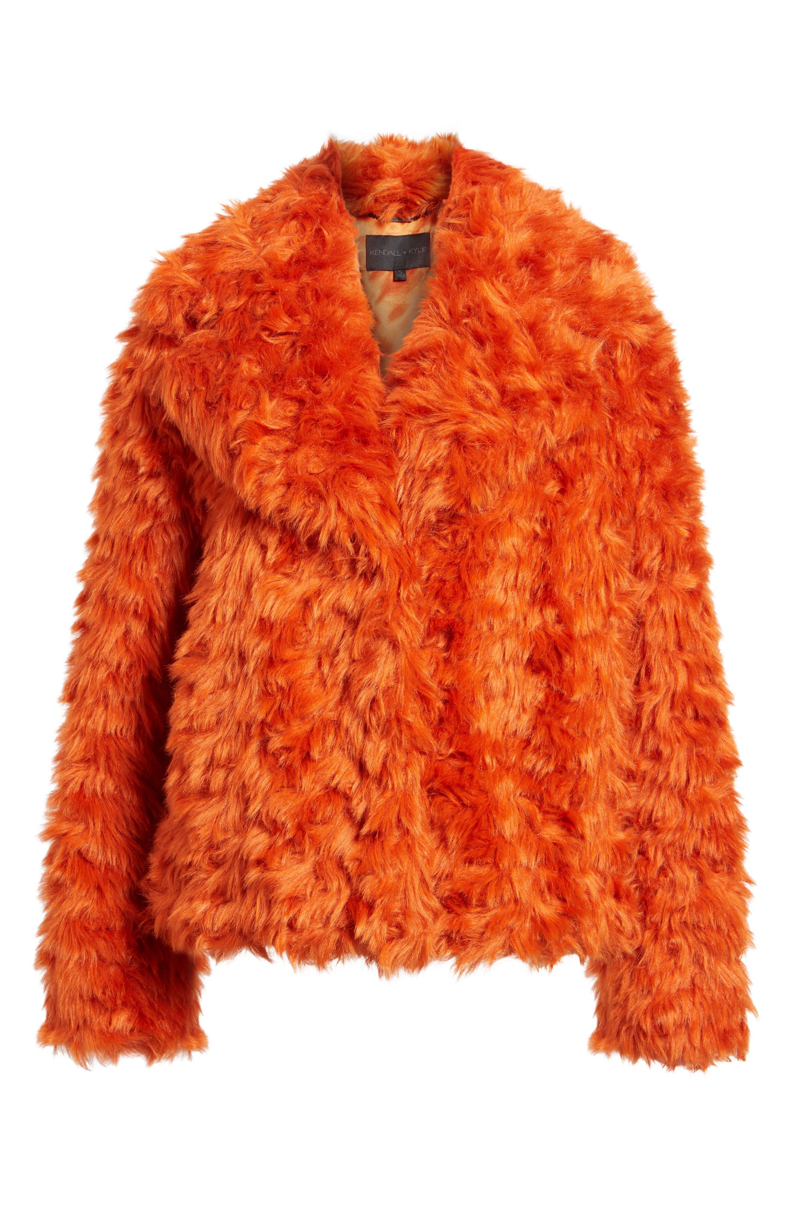Curly Faux Fur Jacket,                             Alternate thumbnail 5, color,                             800