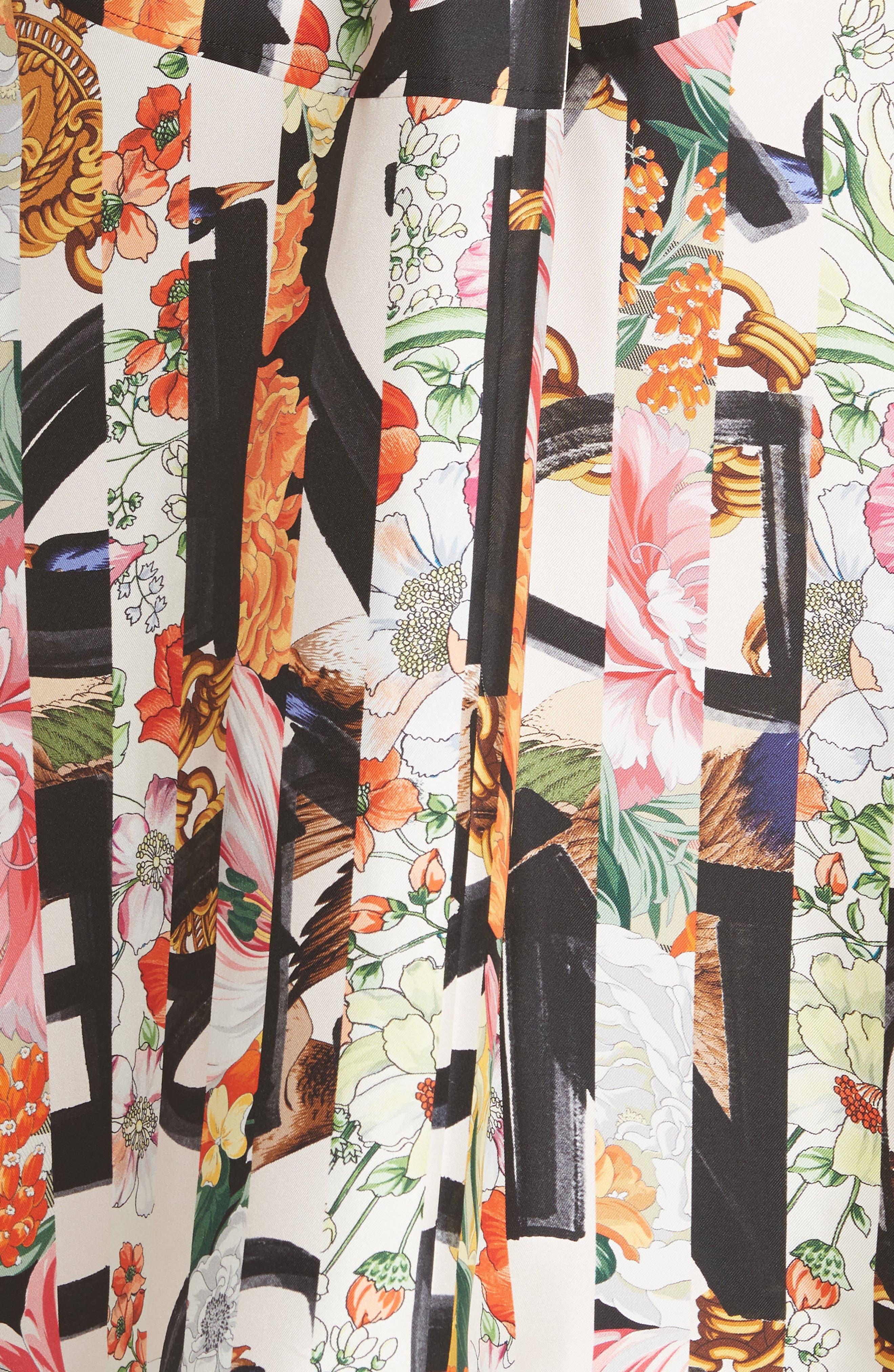 Sacha Silk Dress,                             Alternate thumbnail 7, color,                             MULTICOLOUR IP PTTN