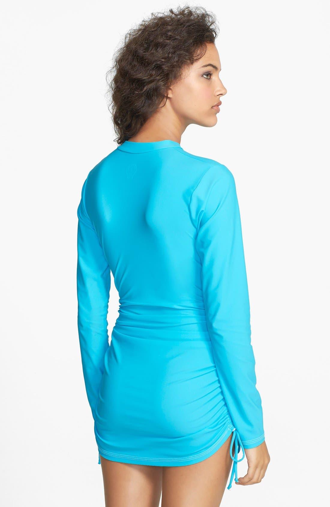'Sonja' Long Sleeve Half Zip Convertible Swimdress,                             Alternate thumbnail 29, color,