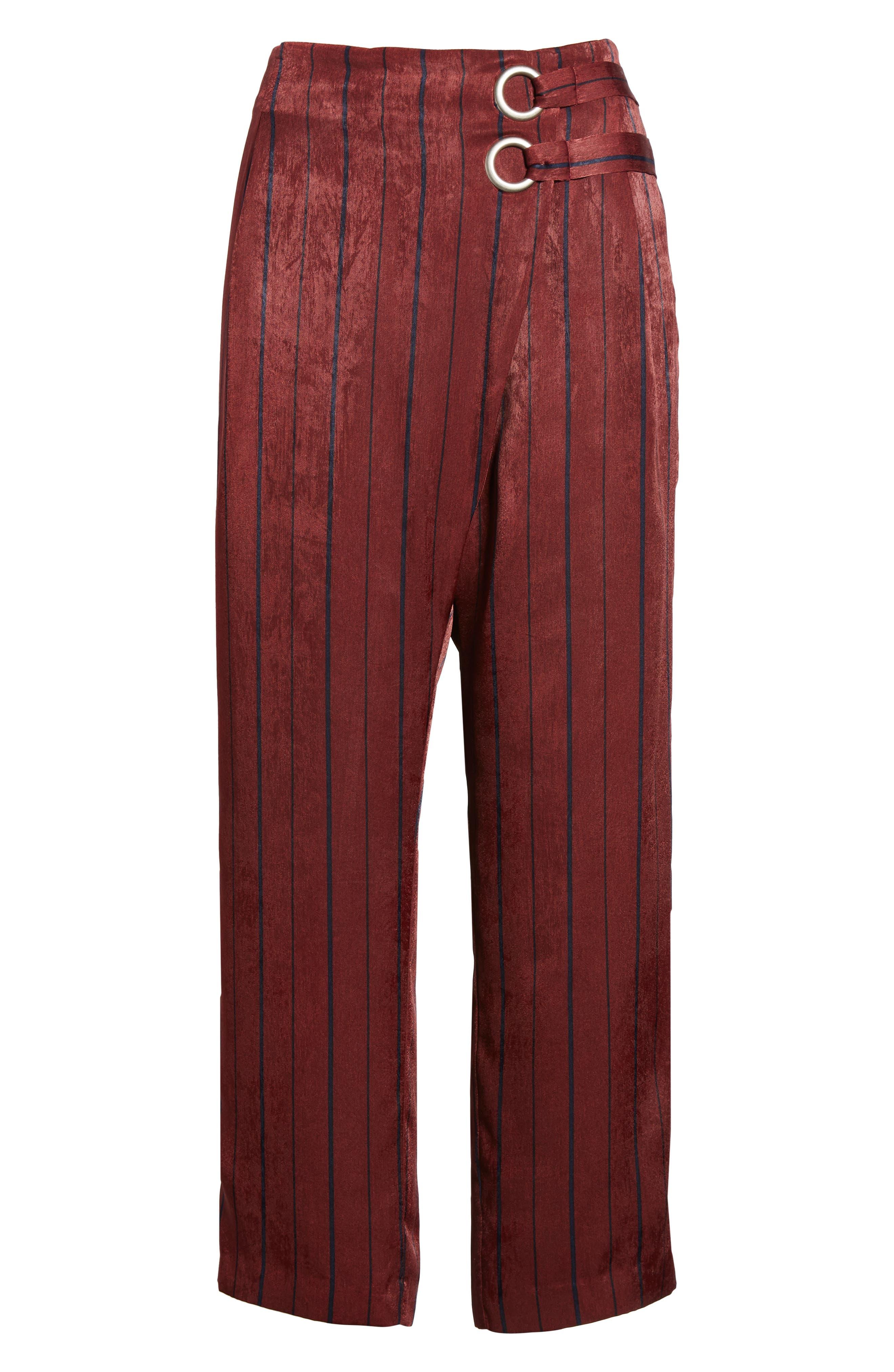 Stripe Crop Pants,                             Alternate thumbnail 6, color,                             930