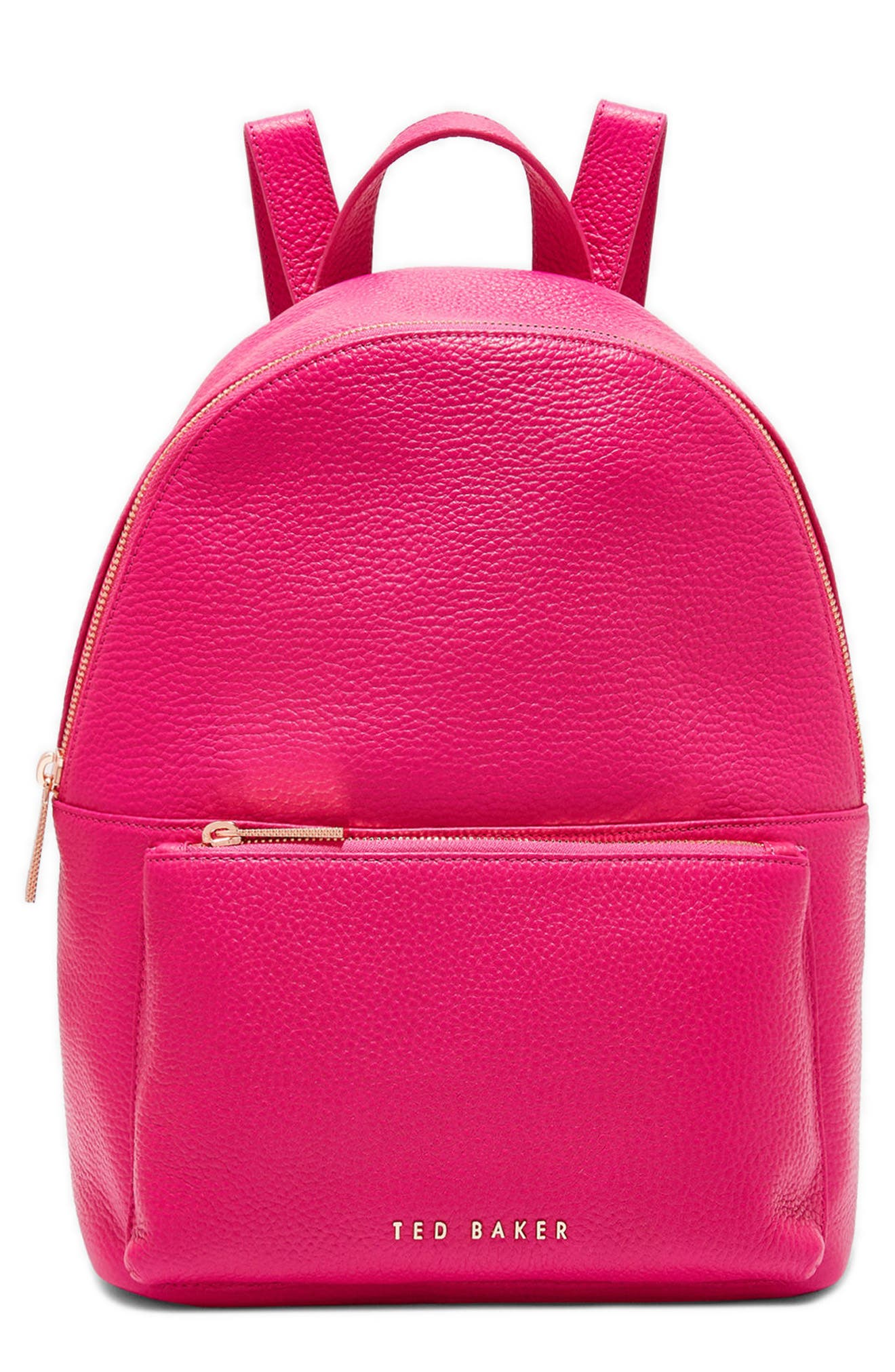 Pearen Leather Backpack,                             Main thumbnail 5, color,