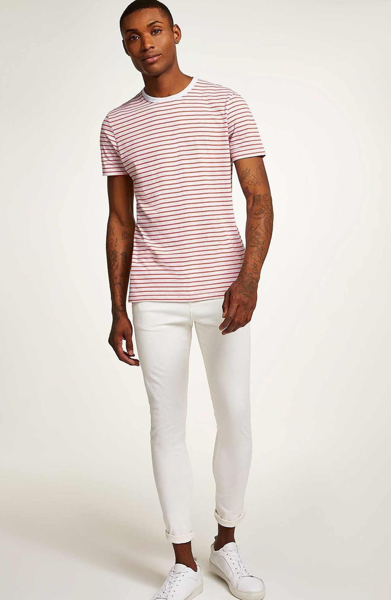 Stripe T-Shirt,                             Alternate thumbnail 5, color,                             ORANGE MULTI