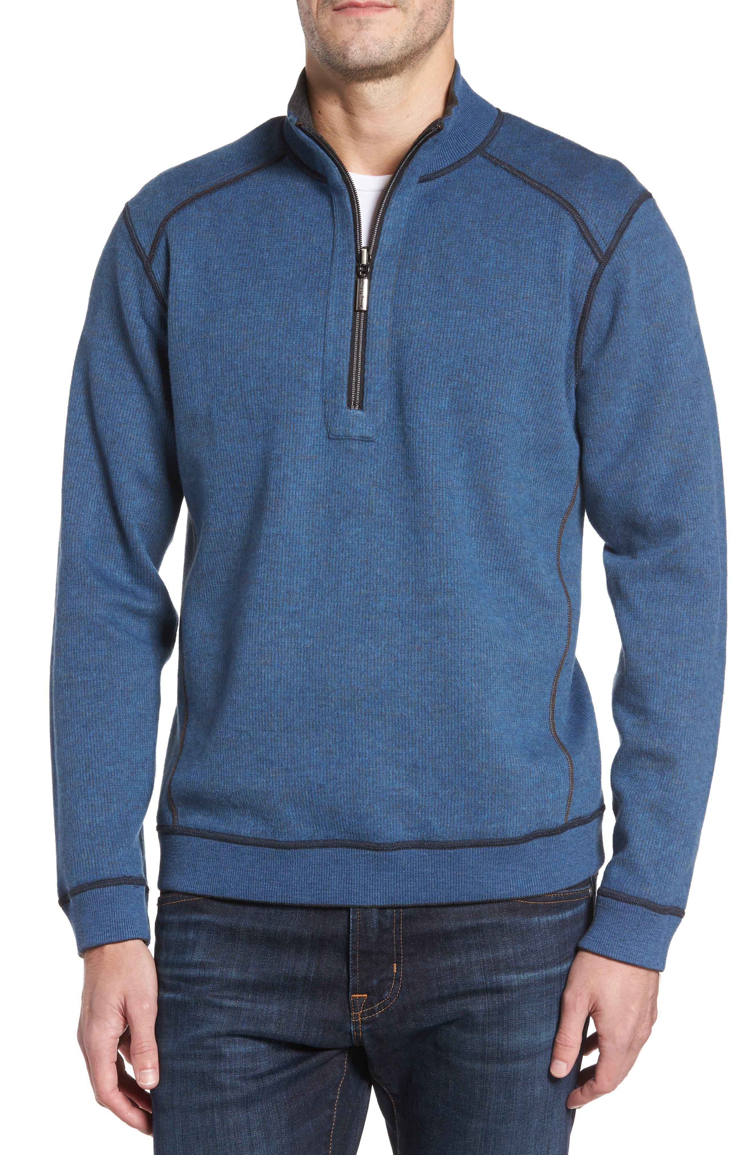 Flipsider Half Zip Reversible Sweatshirt,                             Alternate thumbnail 4, color,                             003