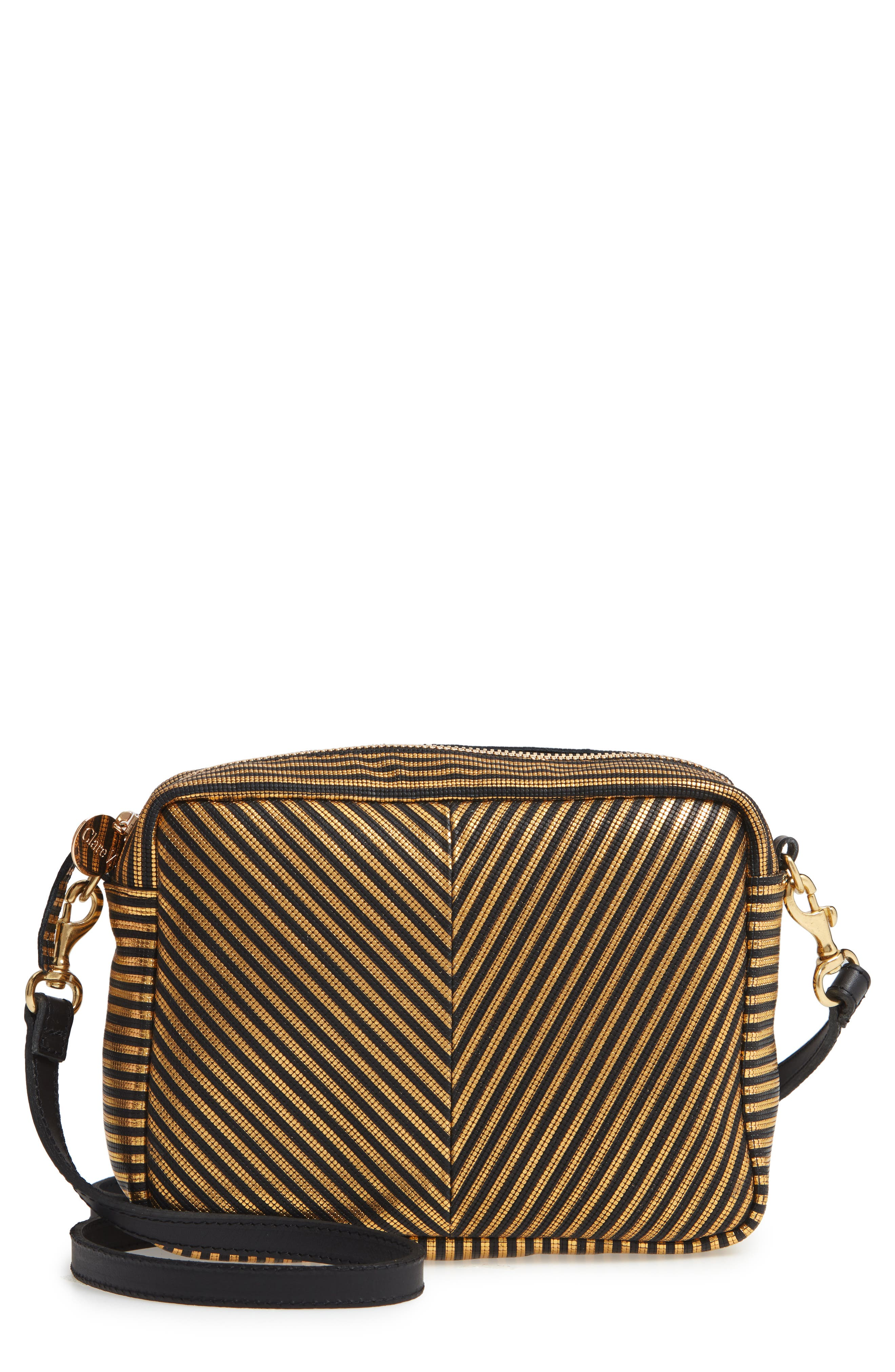 Midi Sac Disco Stripe Leather Crossbody Bag,                             Main thumbnail 1, color,                             DISCO STRIPE