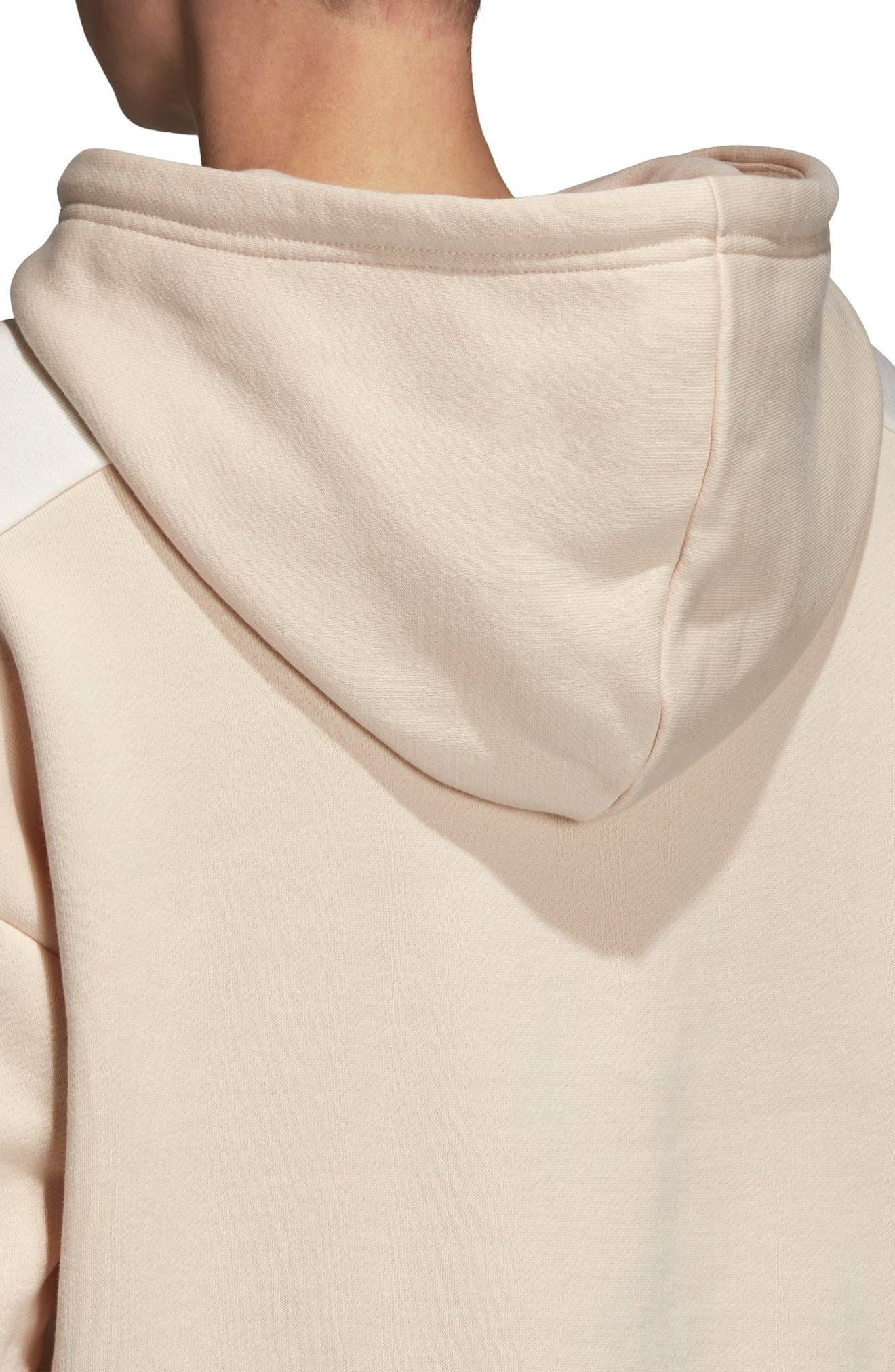 Crop Moto Hoodie,                             Alternate thumbnail 5, color,                             LINEN