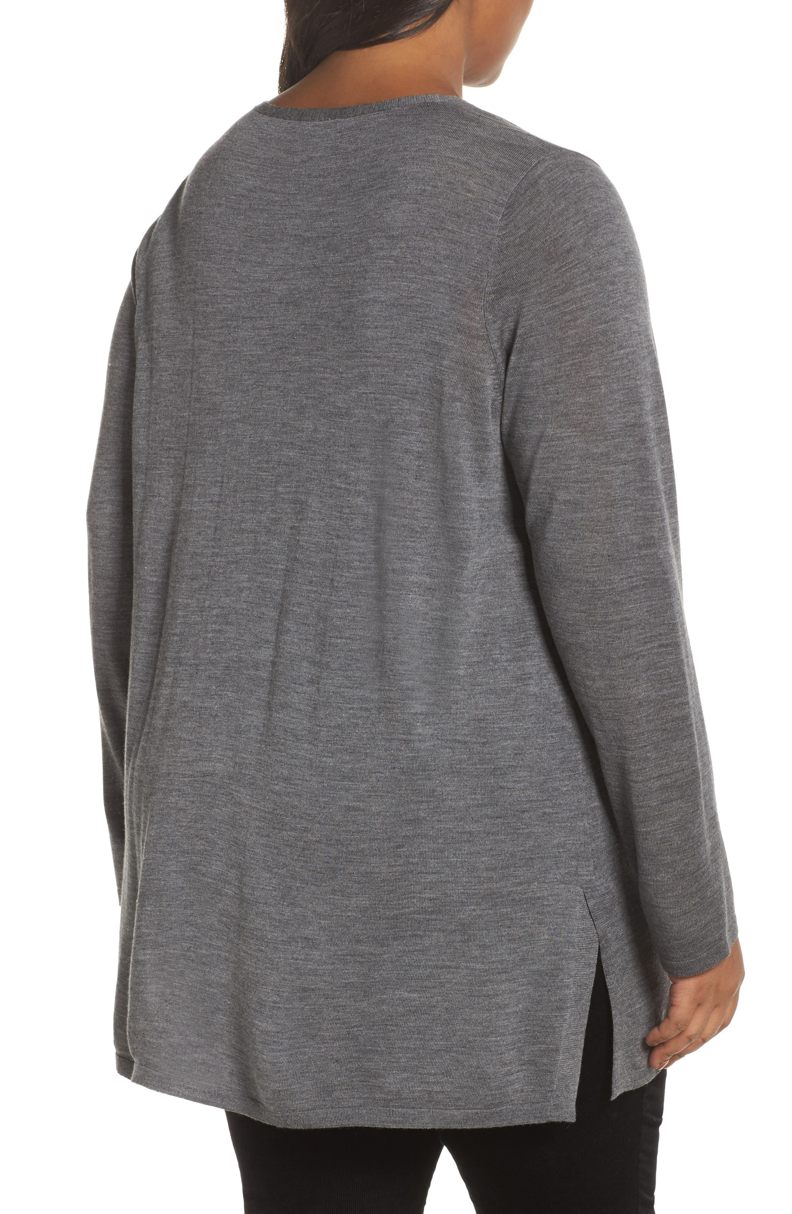 Merino Wool Tunic Sweater,                             Alternate thumbnail 7, color,