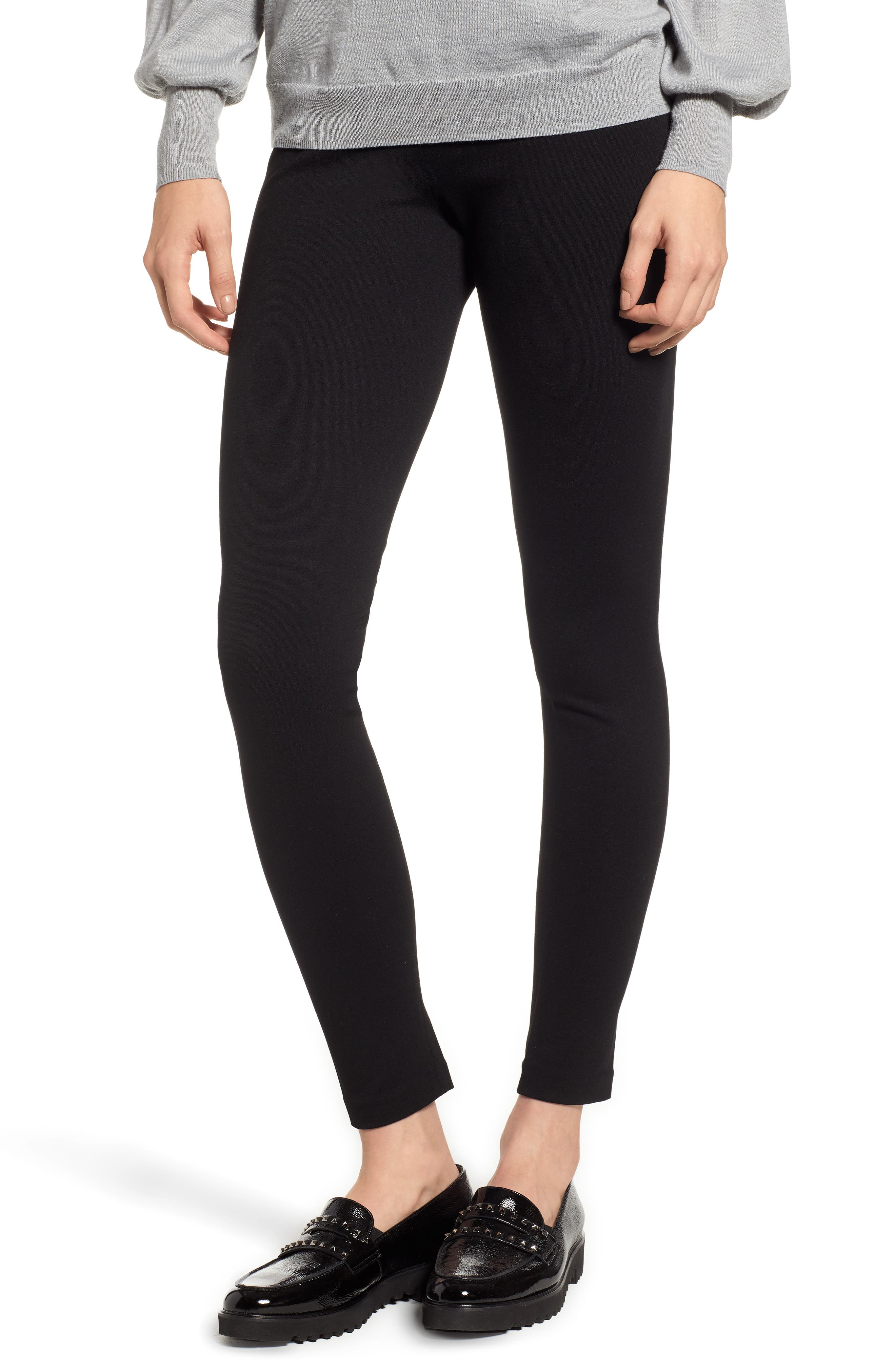Petite Two By Vince Camuto Seamed Back Leggings, Black