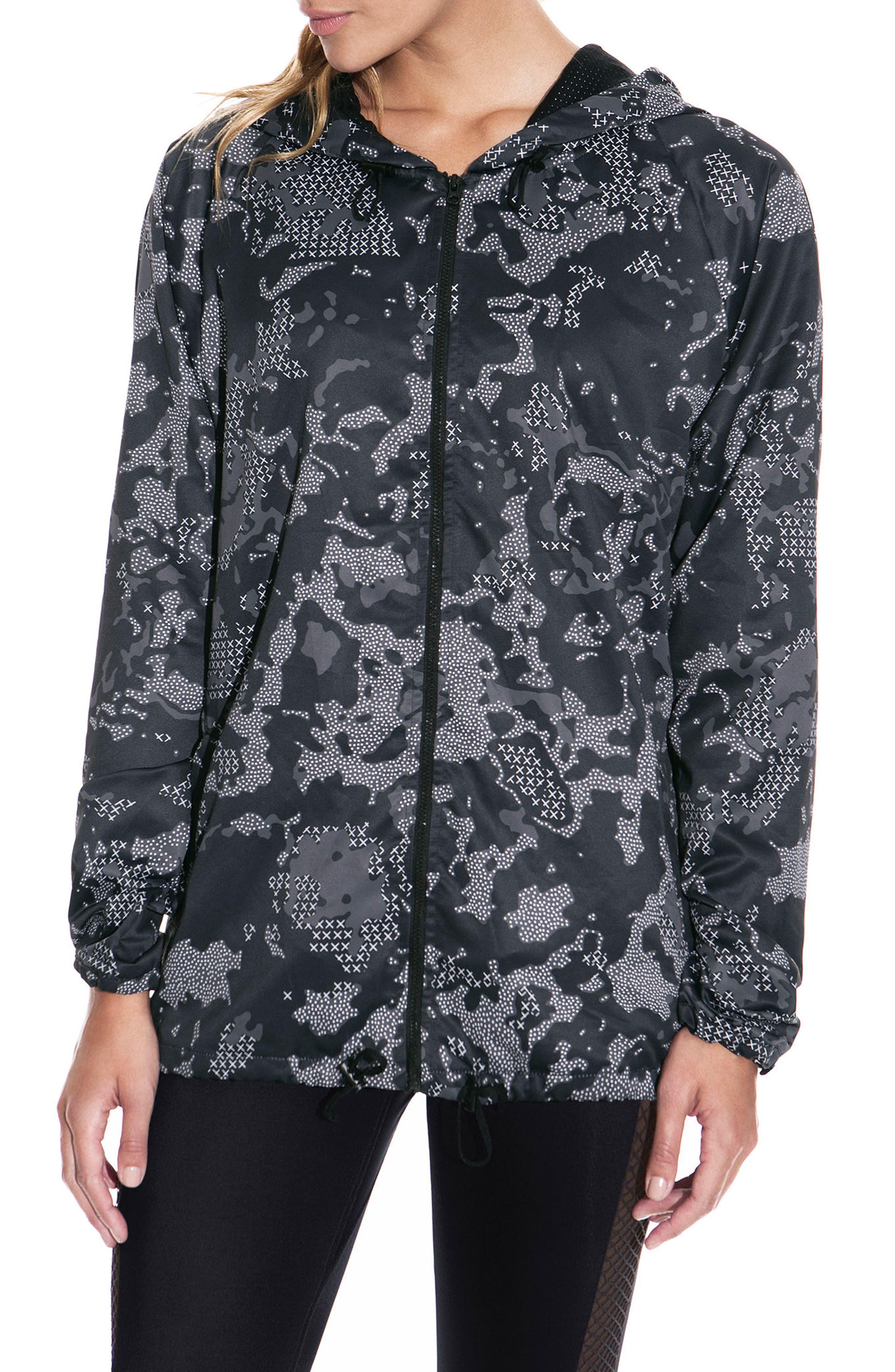 Brisk Black Camo Jacket,                             Main thumbnail 1, color,                             001
