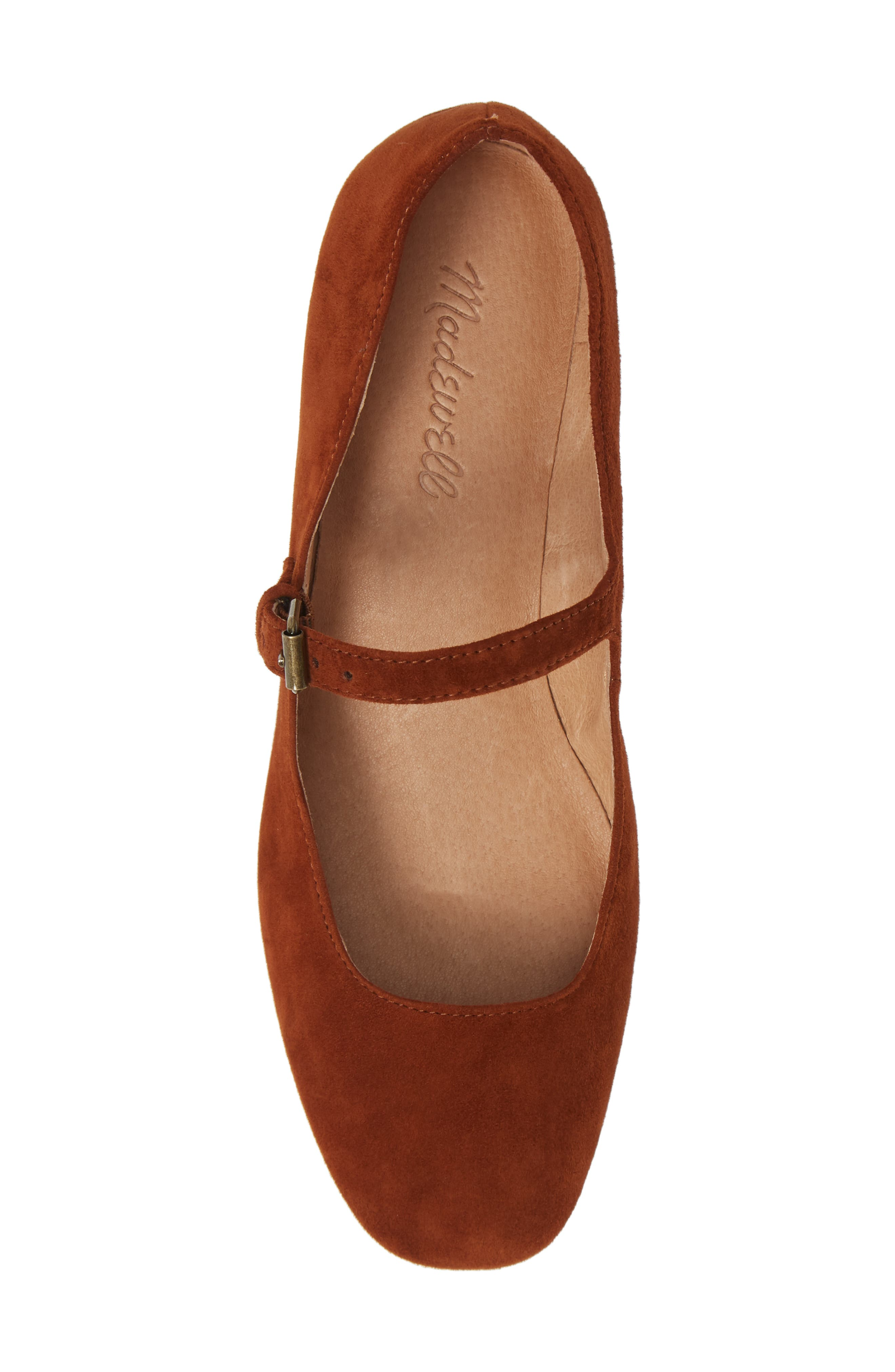 The Delilah Mary Jane Pump,                             Alternate thumbnail 5, color,                             MAPLE SYRUP SUEDE