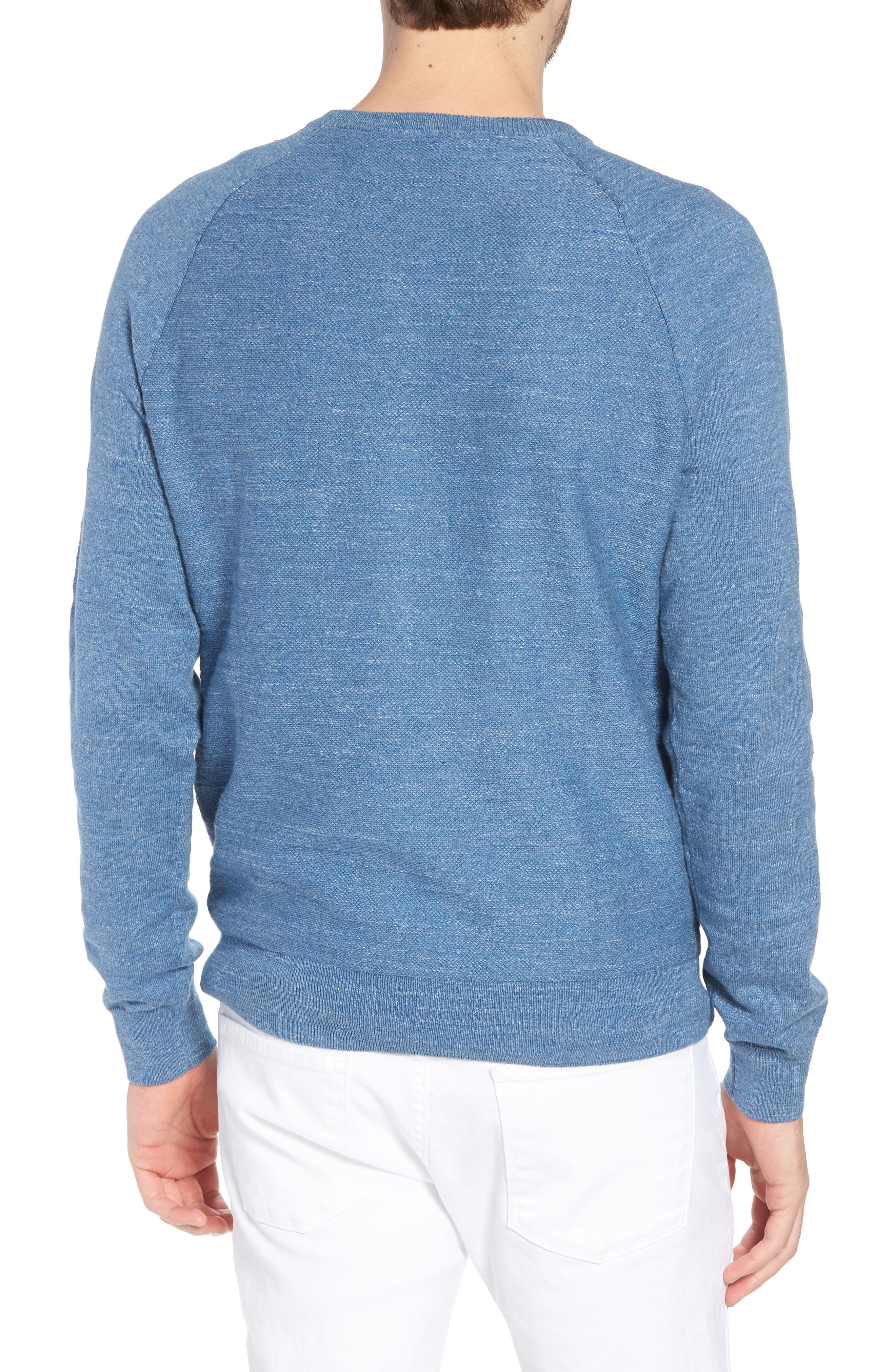 Slim Rugged Cotton Sweater,                             Alternate thumbnail 6, color,