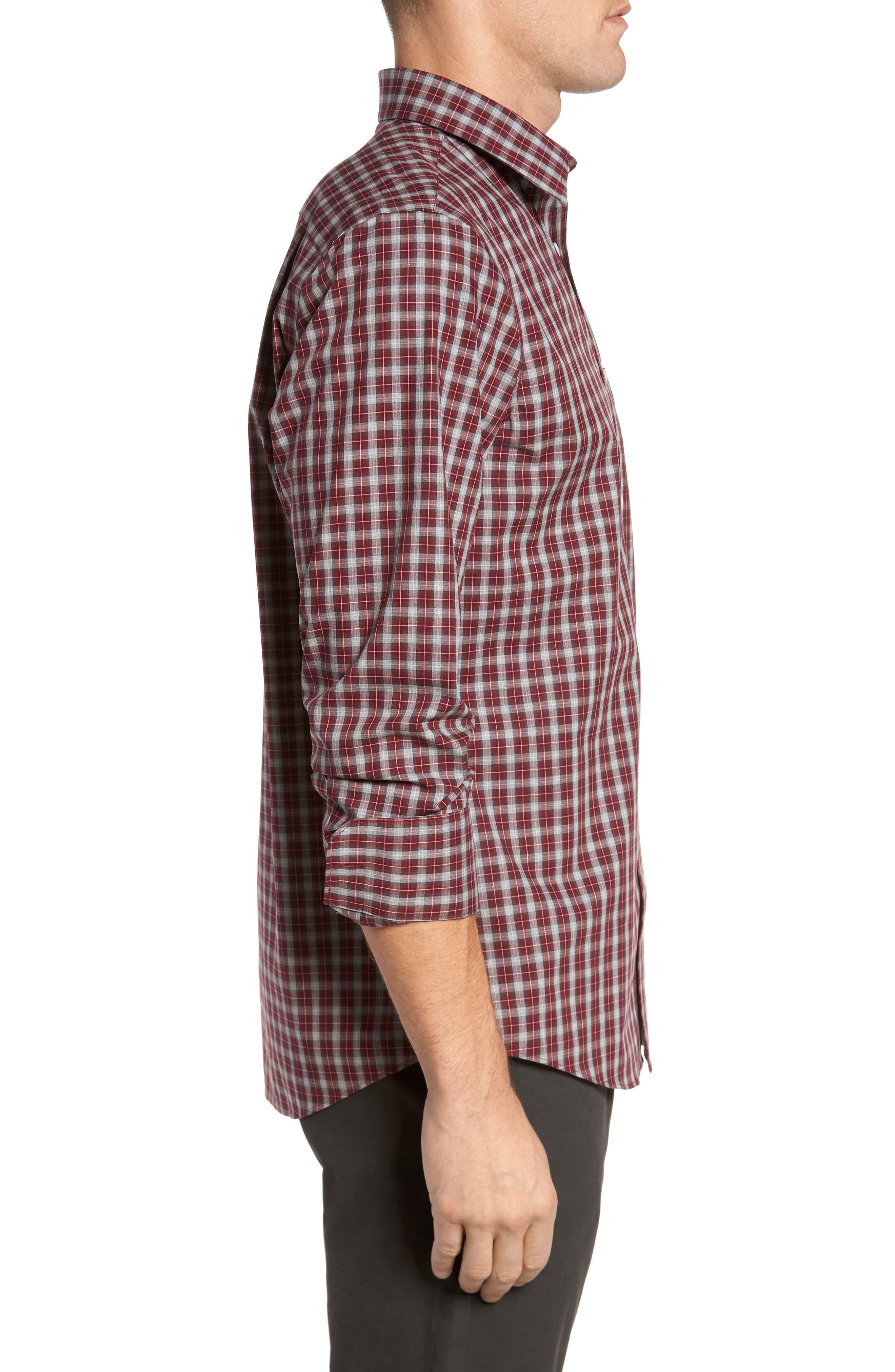 Regular Fit Non-Iron Check Sport Shirt,                             Alternate thumbnail 3, color,                             610