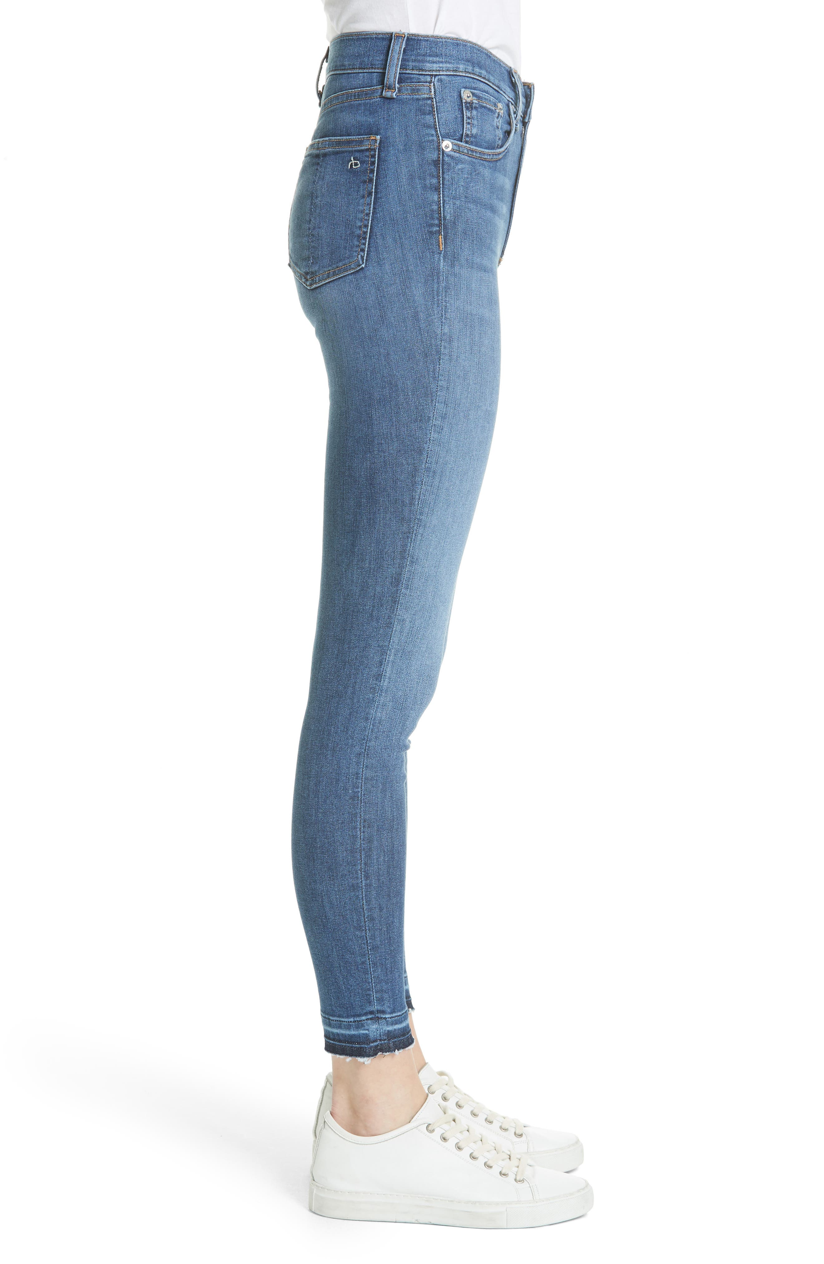 High Waist Ankle Skinny Jeans,                             Alternate thumbnail 3, color,                             426