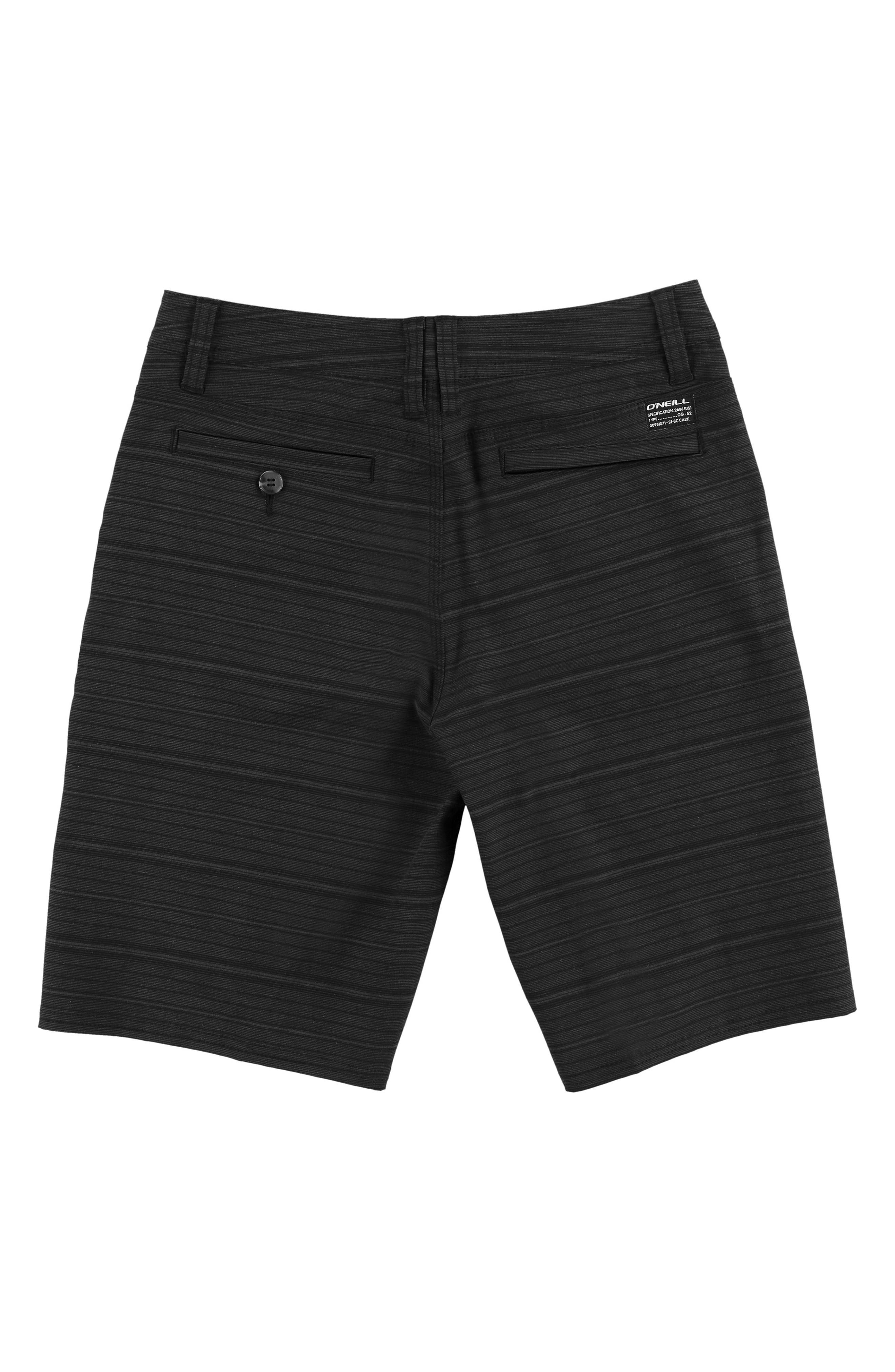 Locked Stripe Hybrid Shorts,                             Alternate thumbnail 2, color,                             ASPHALT