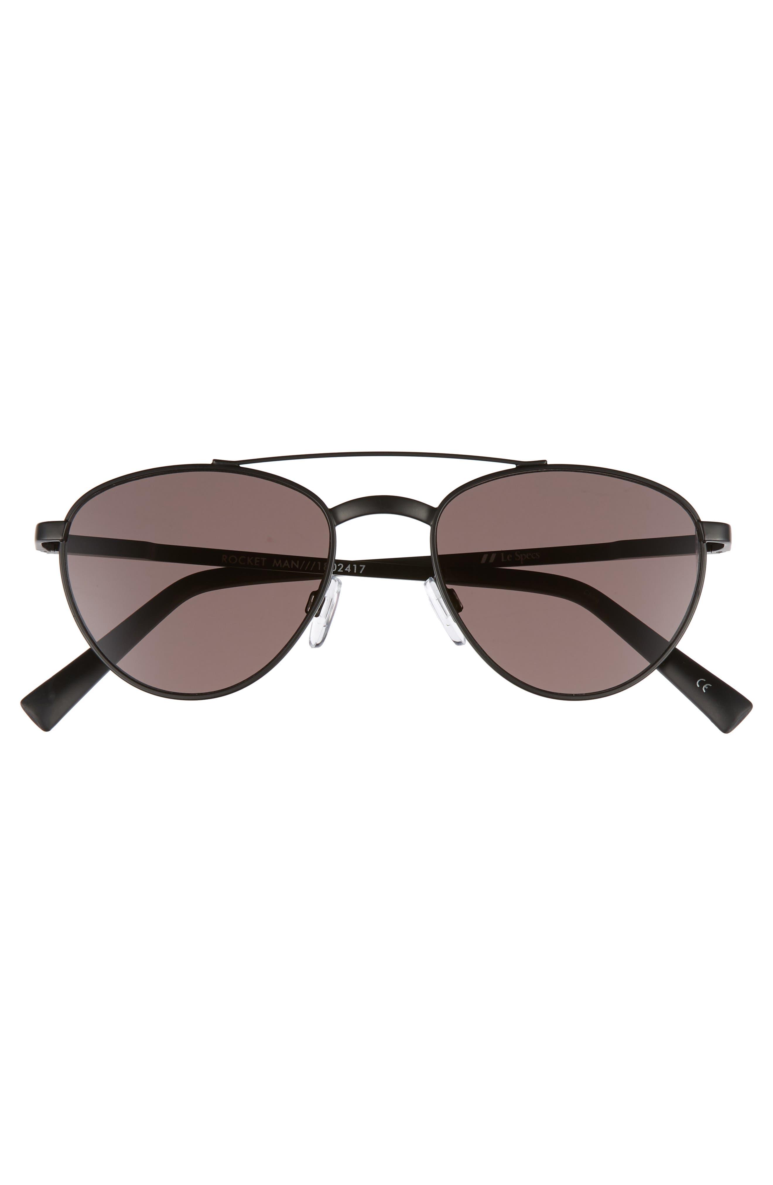 Rocket Man 52mm Aviator Sunglasses,                             Alternate thumbnail 3, color,                             MATTE BLACK