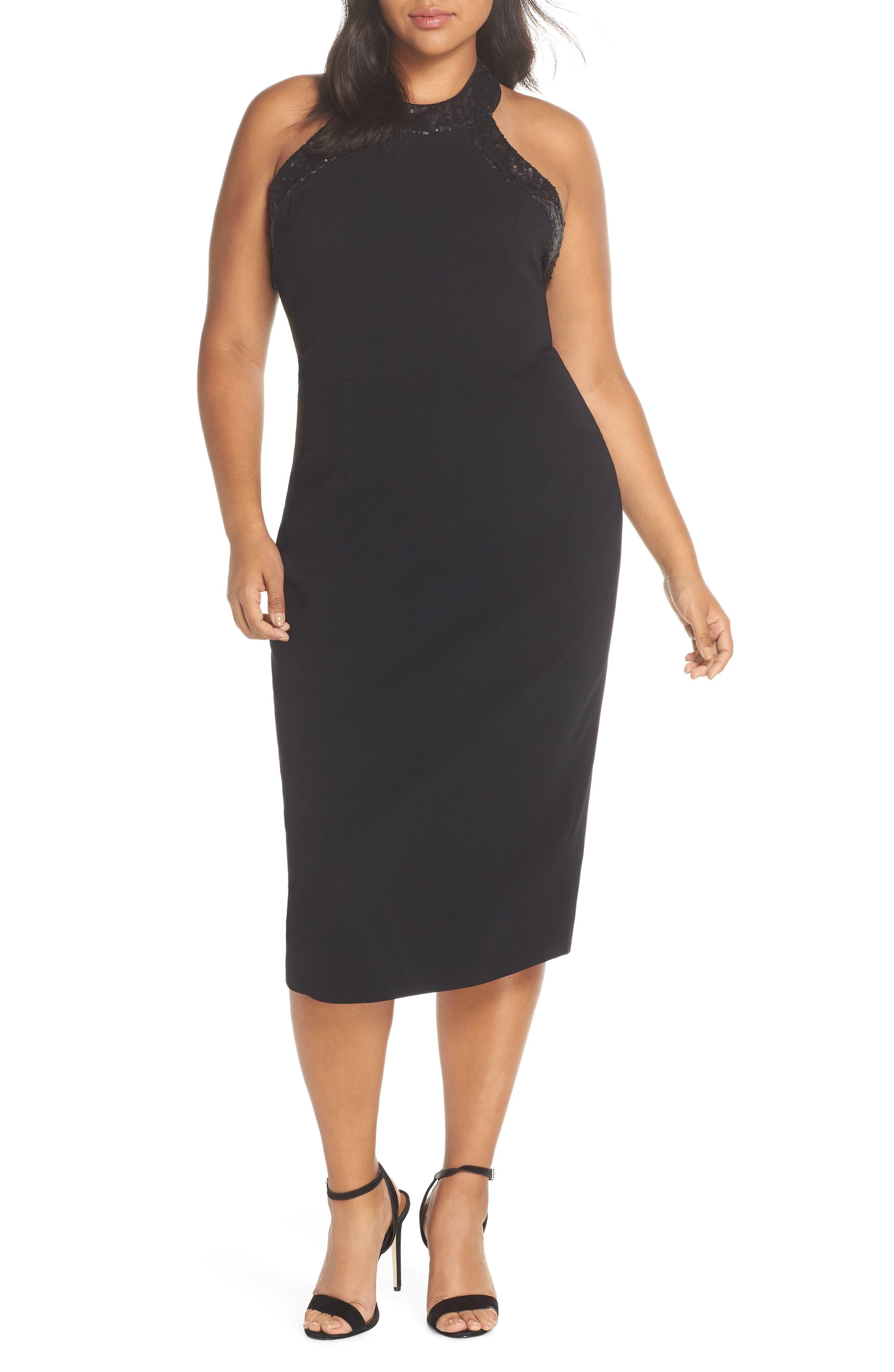 Cleo Halter Dress,                             Alternate thumbnail 2, color,                             BLACK/ BLACK