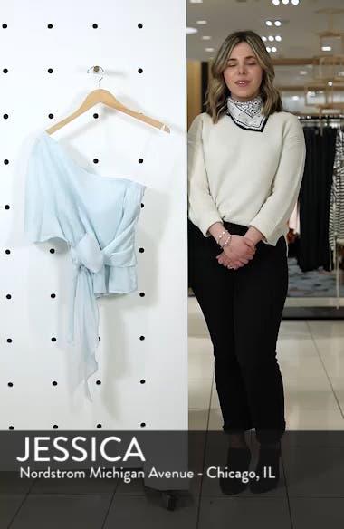 Tie Waist One-Shoulder Blouse, sales video thumbnail