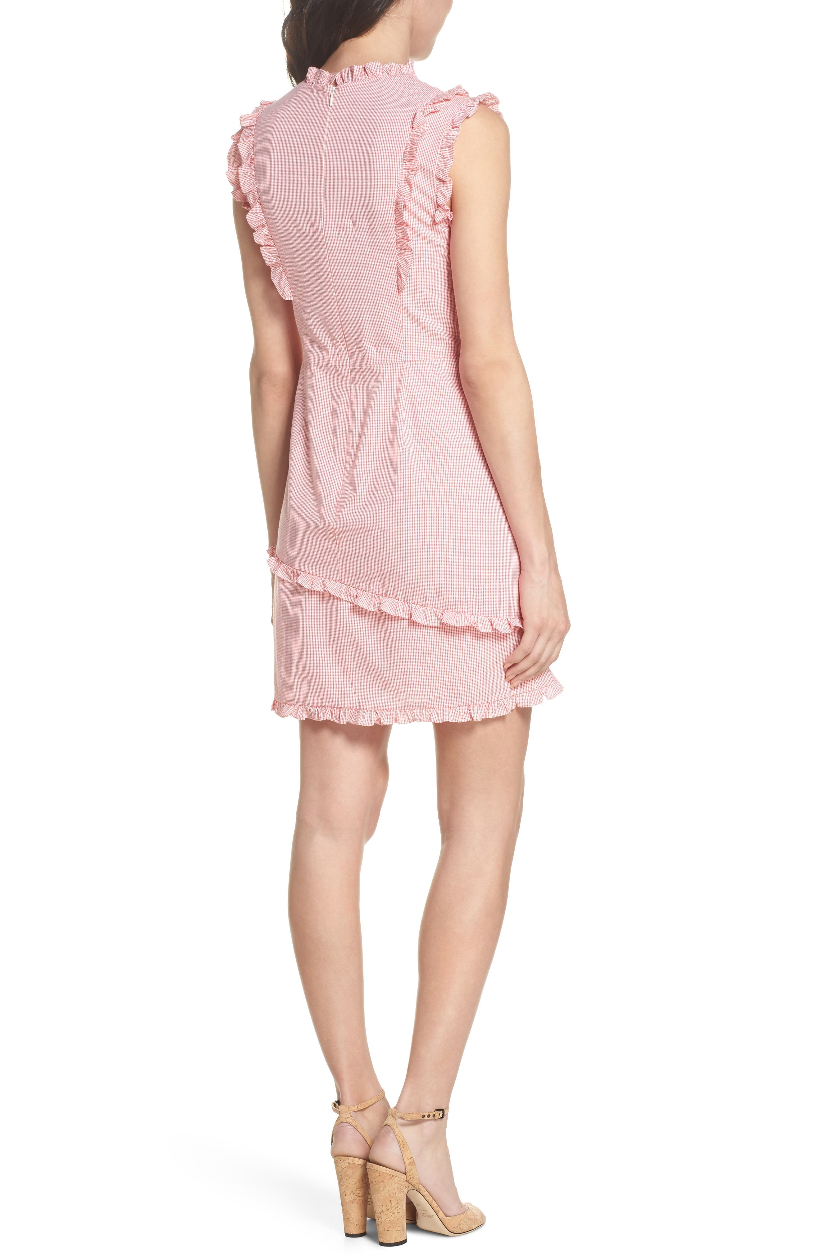 Ruffle V-Neck Sheath Dress,                             Alternate thumbnail 2, color,