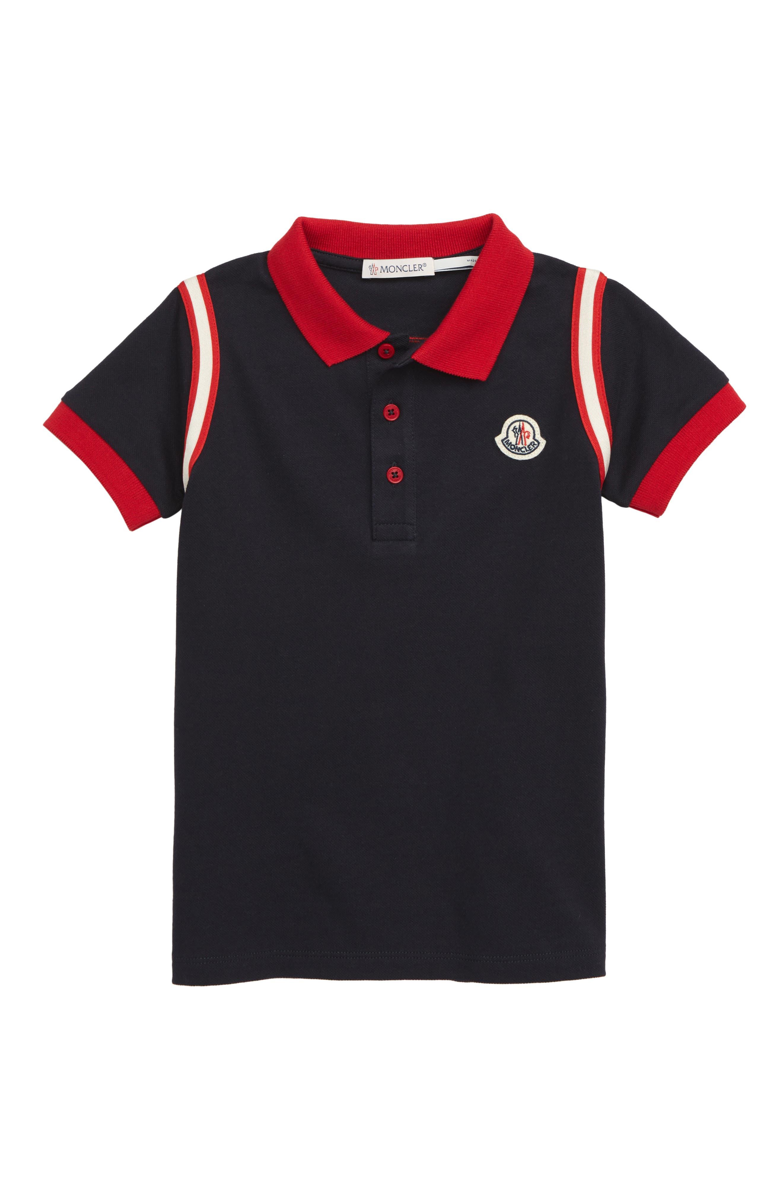 Infant Boys Moncler Logo Pique Polo