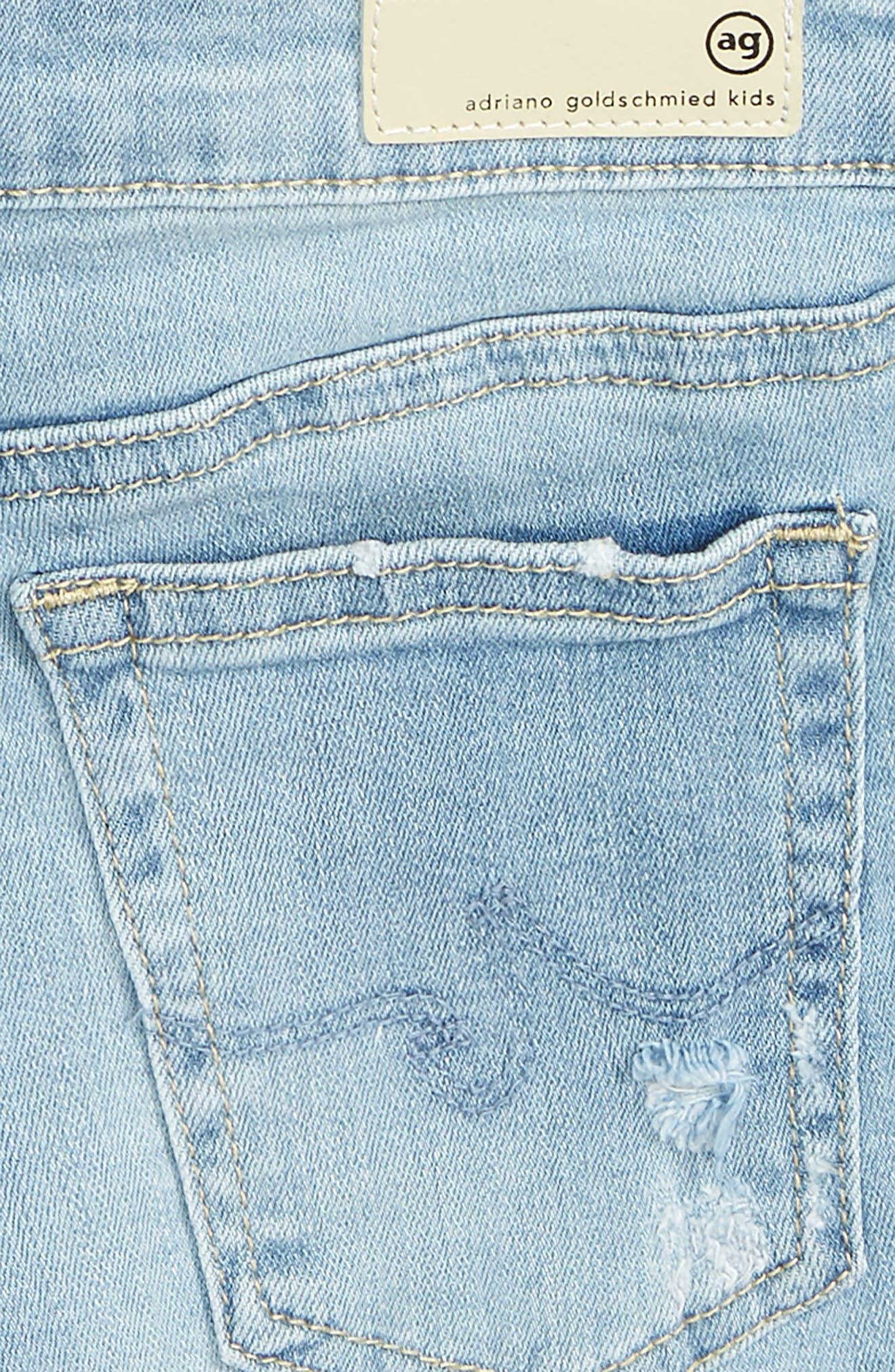 The Heather Denim Shorts,                             Alternate thumbnail 3, color,