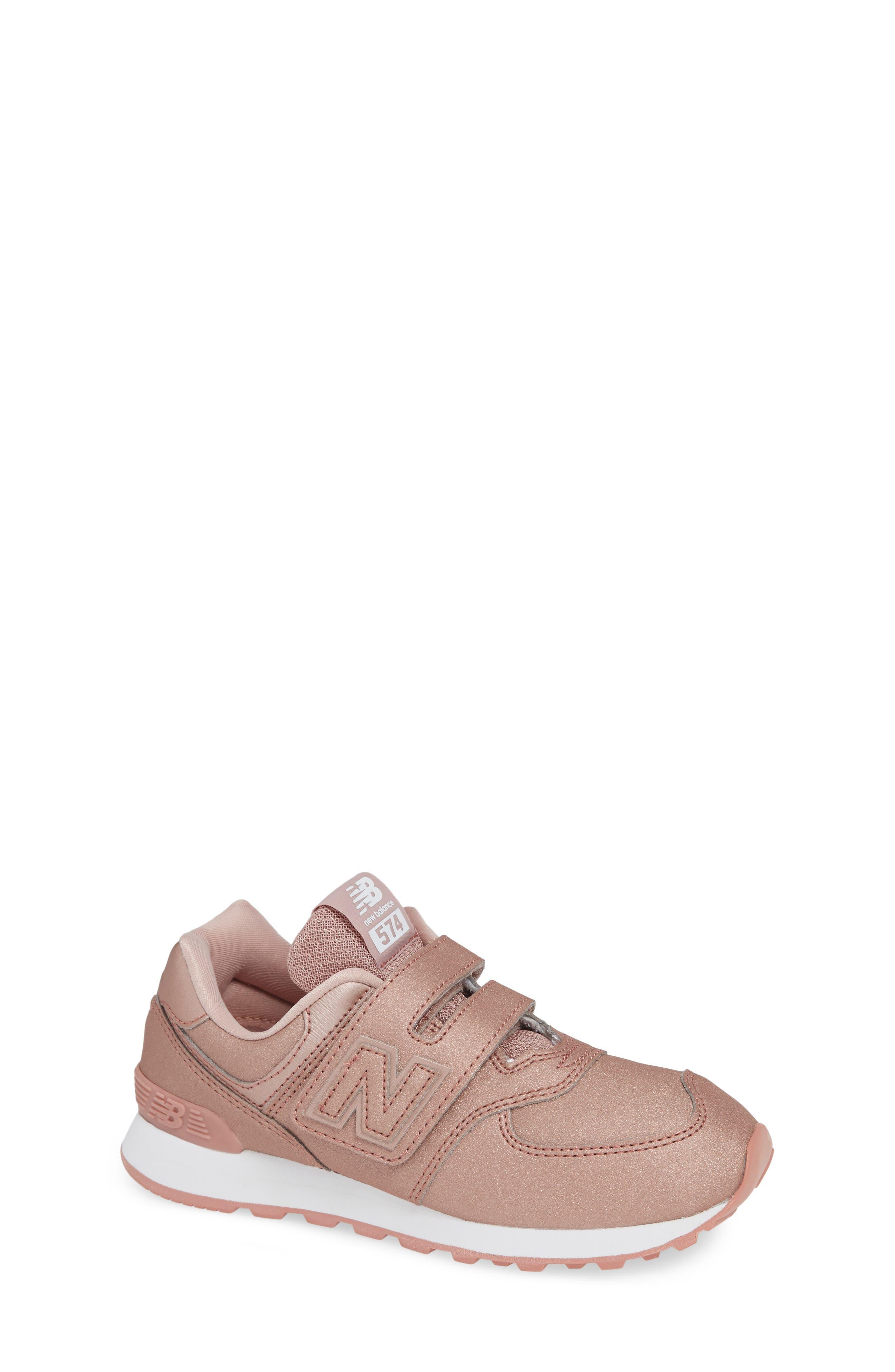 Girls New Balance 574 Essentials Glitter Sneaker Size 13 M  Metallic