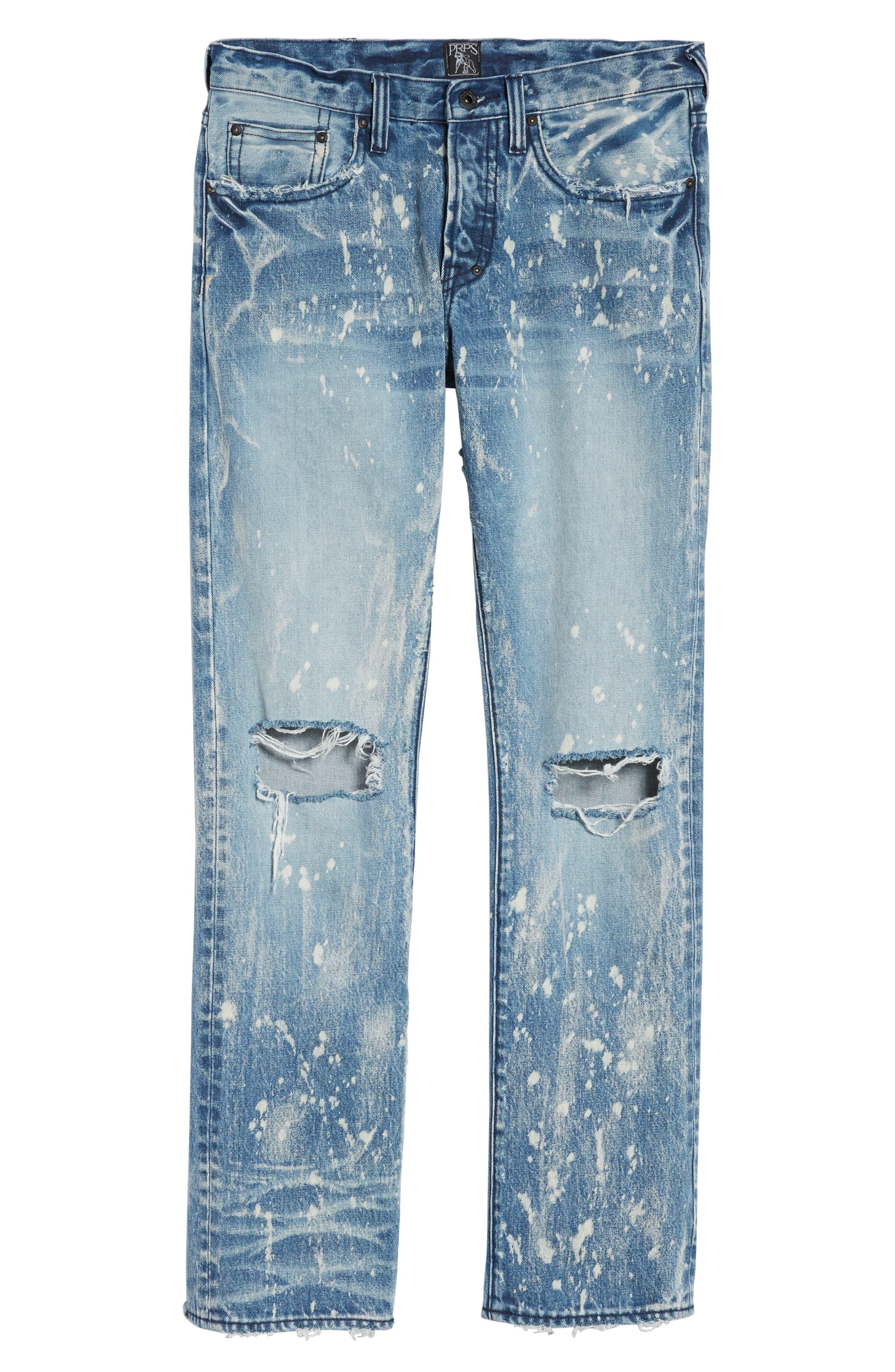 Demon Slim Straight Leg Jeans,                             Alternate thumbnail 6, color,                             490