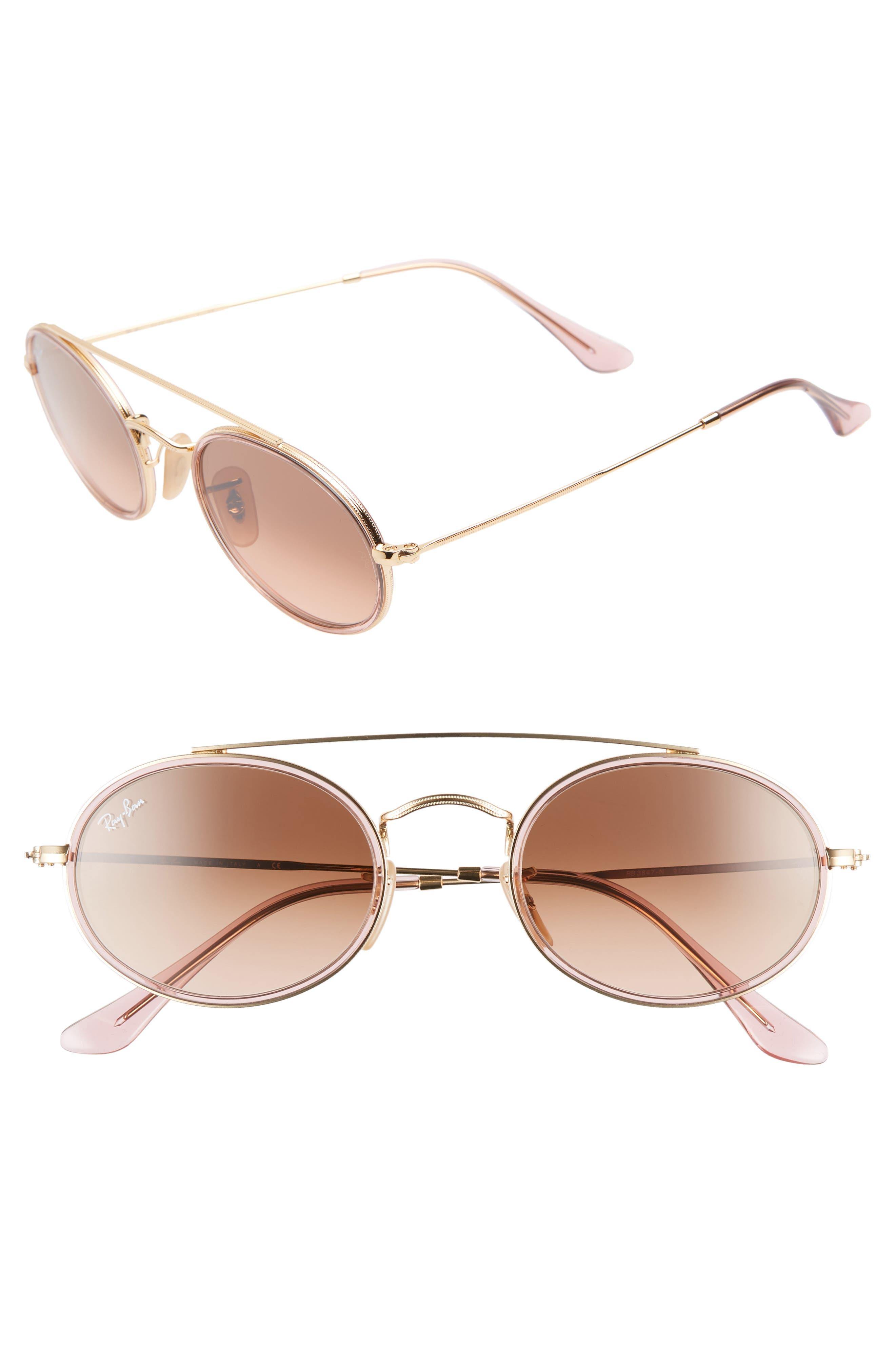 Elite 52mm Gradient Oval Sunglasses,                             Main thumbnail 1, color,                             712