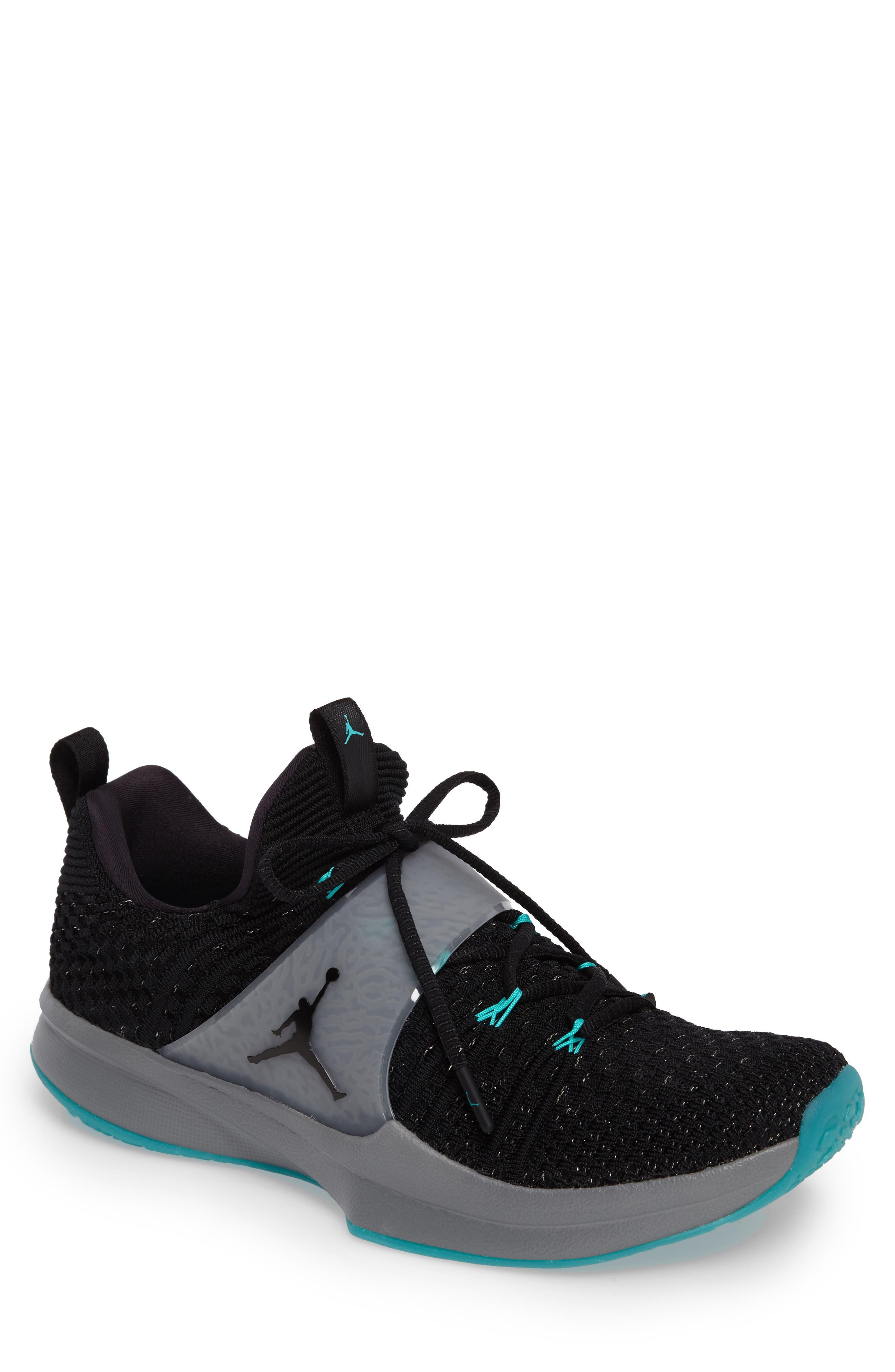 Jordan Flyknit Trainer 2 Low Sneaker,                             Main thumbnail 3, color,