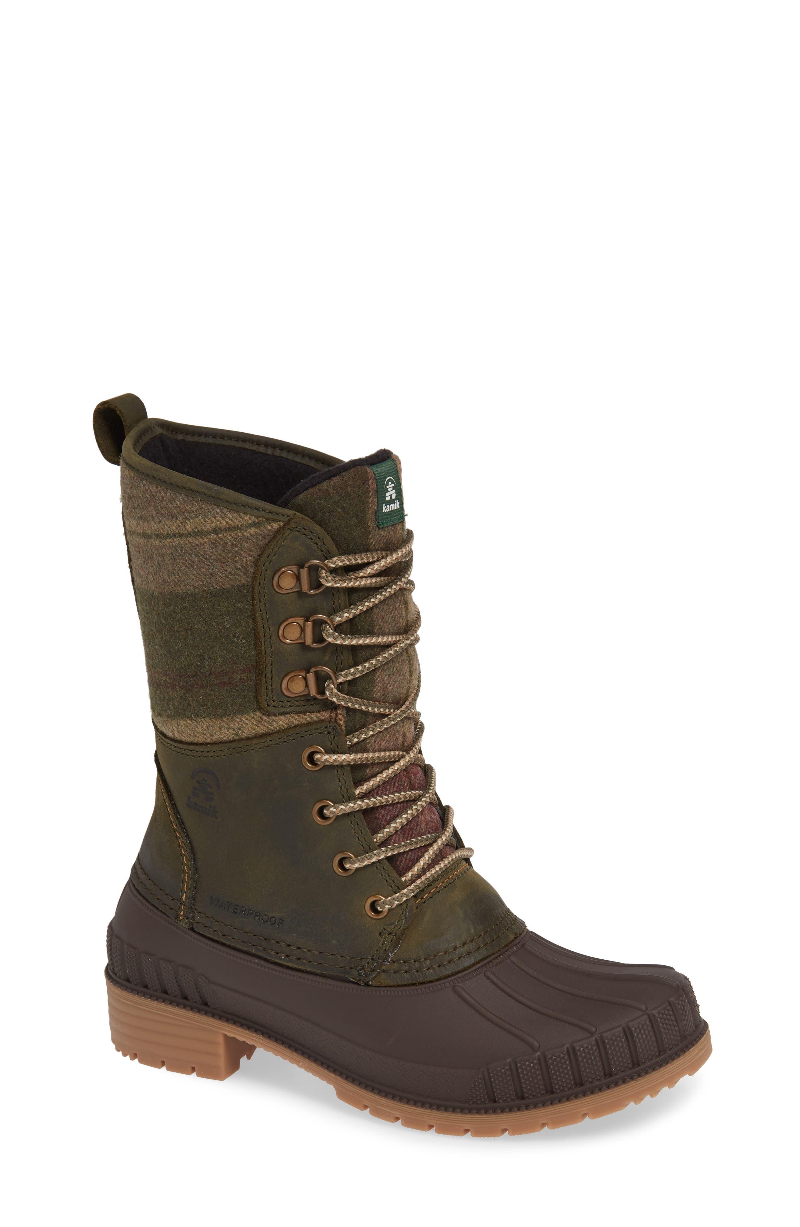 Kamik Sienna 2 Duck Waterproof Boot, Green