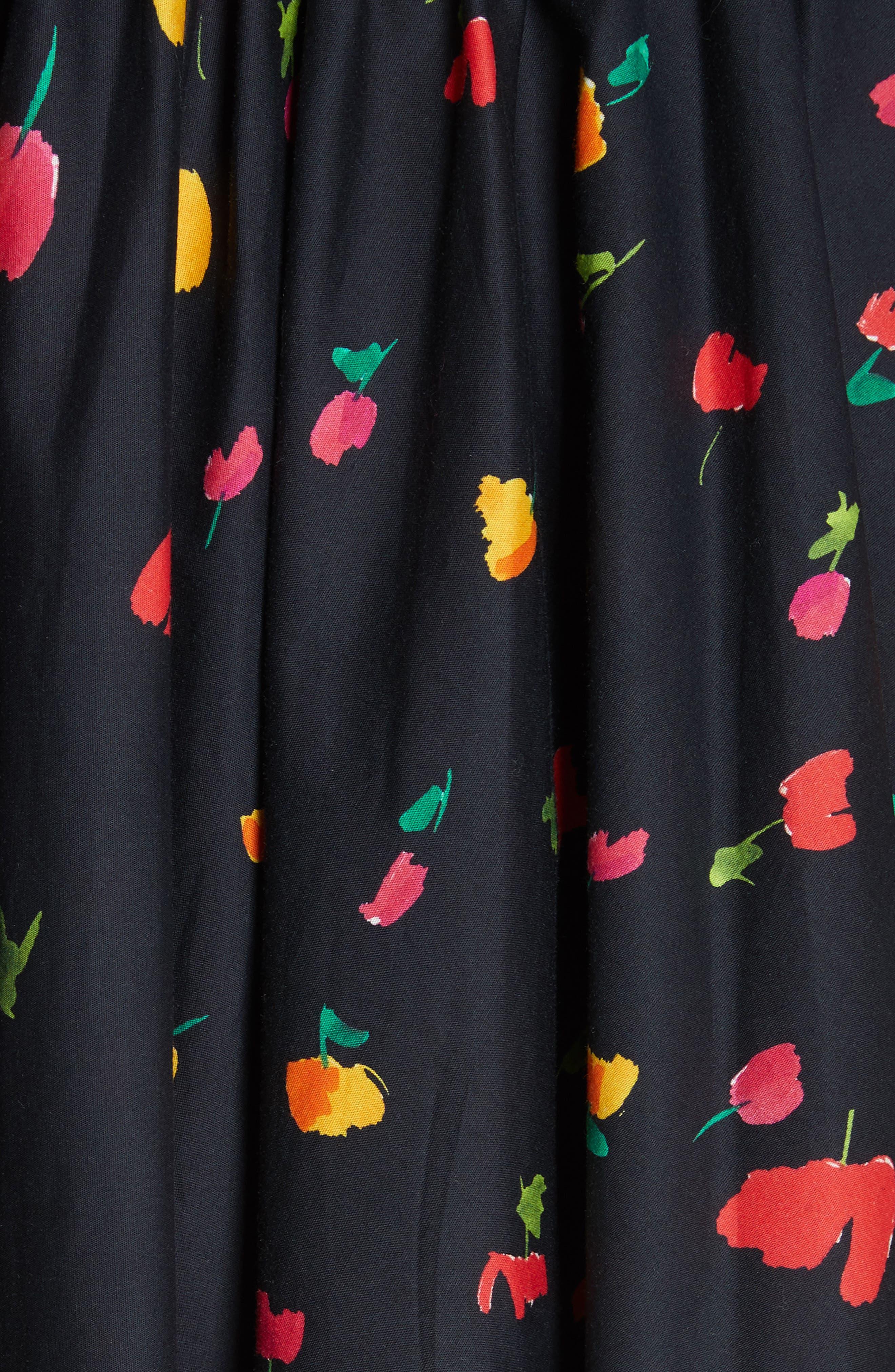 Kora Off the Shoulder Dress,                             Alternate thumbnail 5, color,                             BLACK