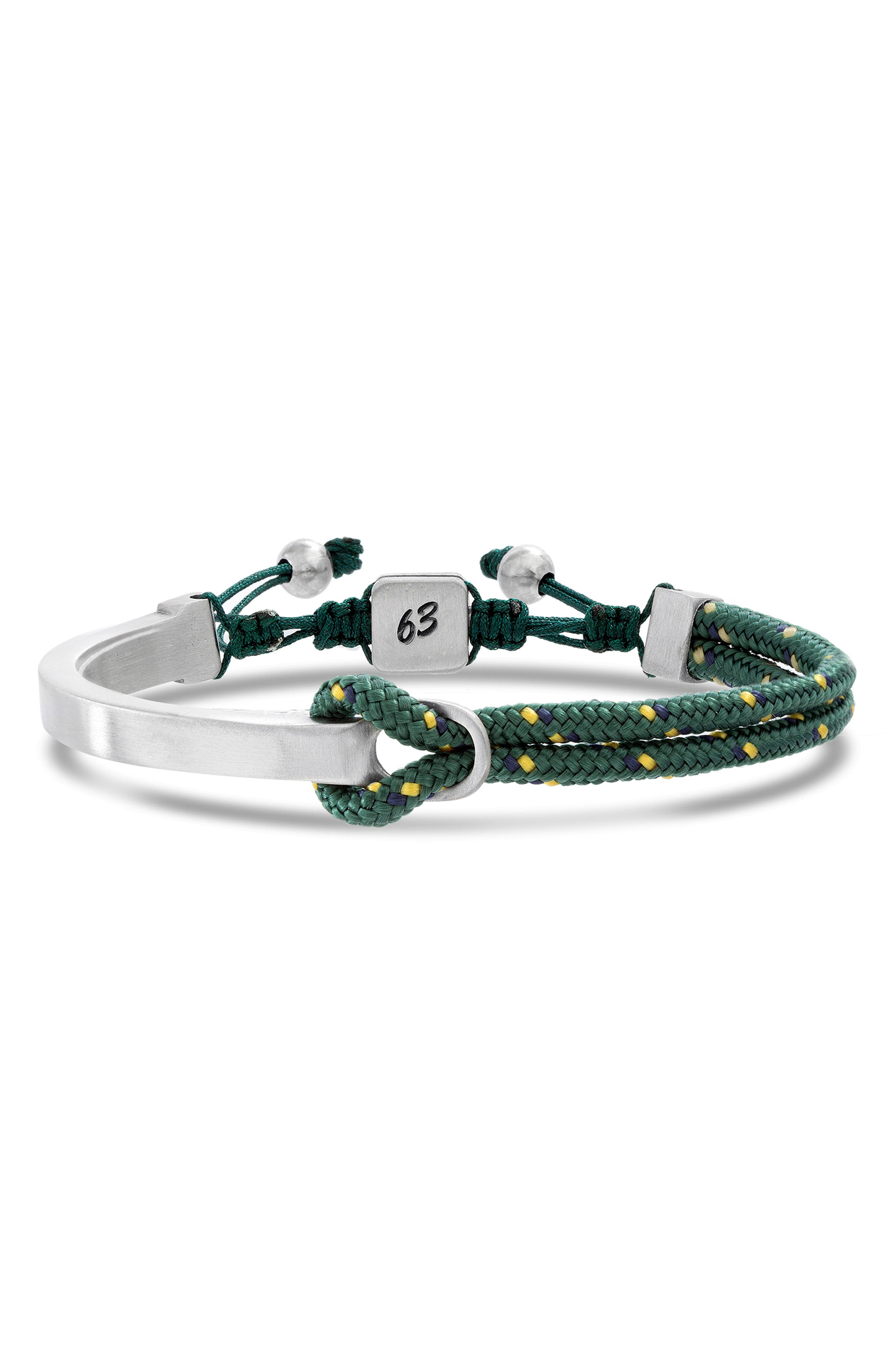 Adjustable ID Bracelet,                             Main thumbnail 1, color,                             GREEN/ YELLOW/ BLACK