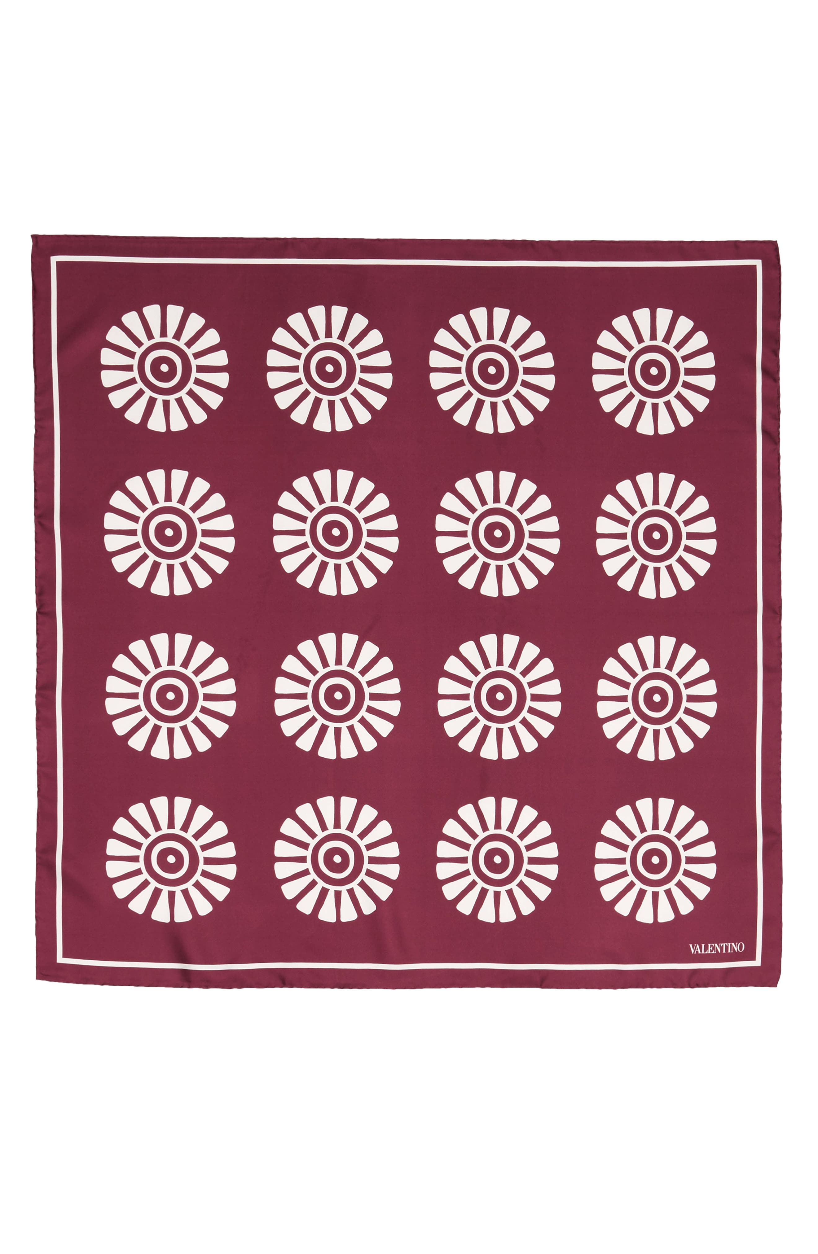 GARAVANI Medallion Print Square Silk Scarf,                             Main thumbnail 1, color,                             209