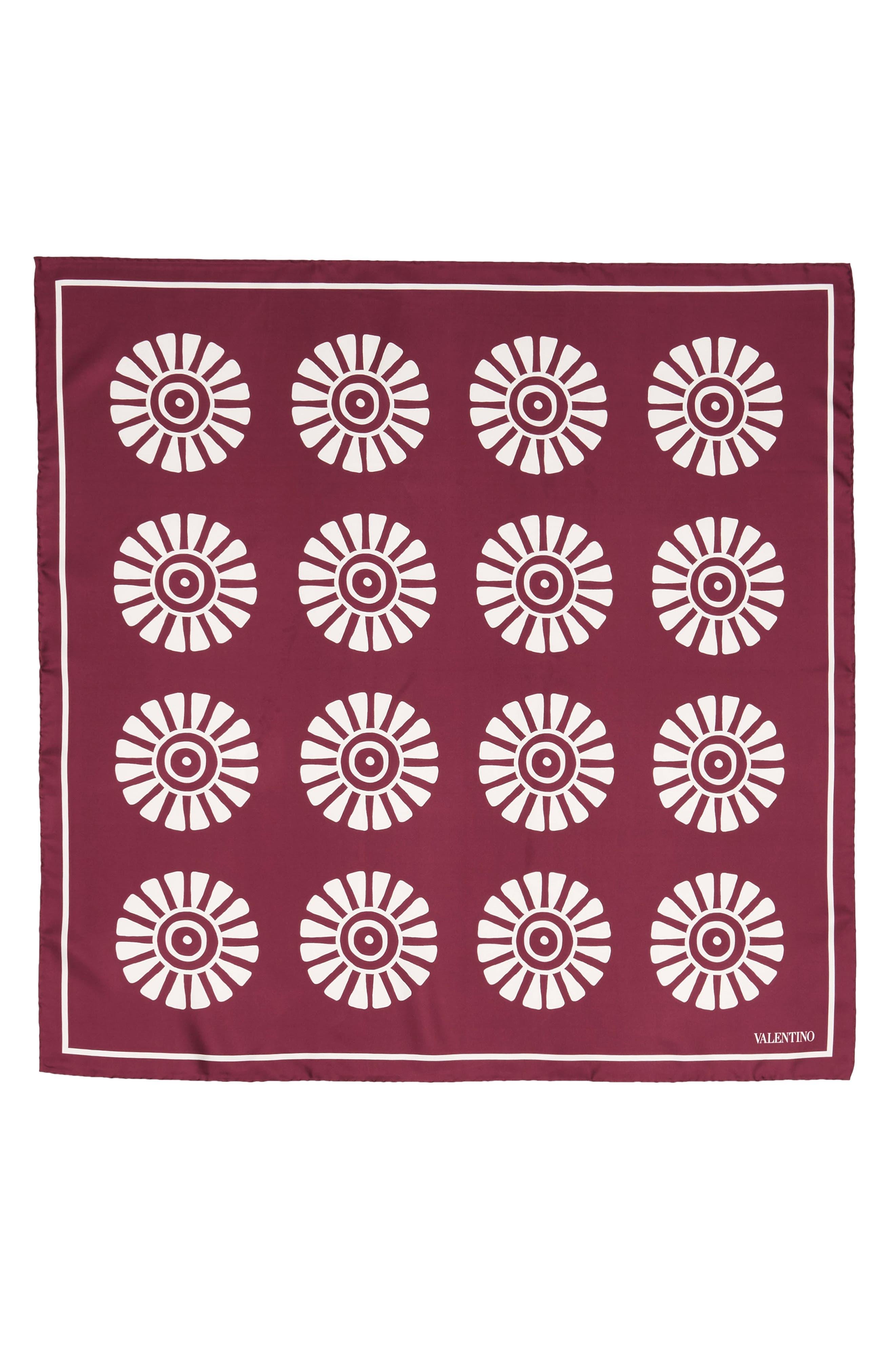 GARAVANI Medallion Print Square Silk Scarf,                         Main,                         color, 209