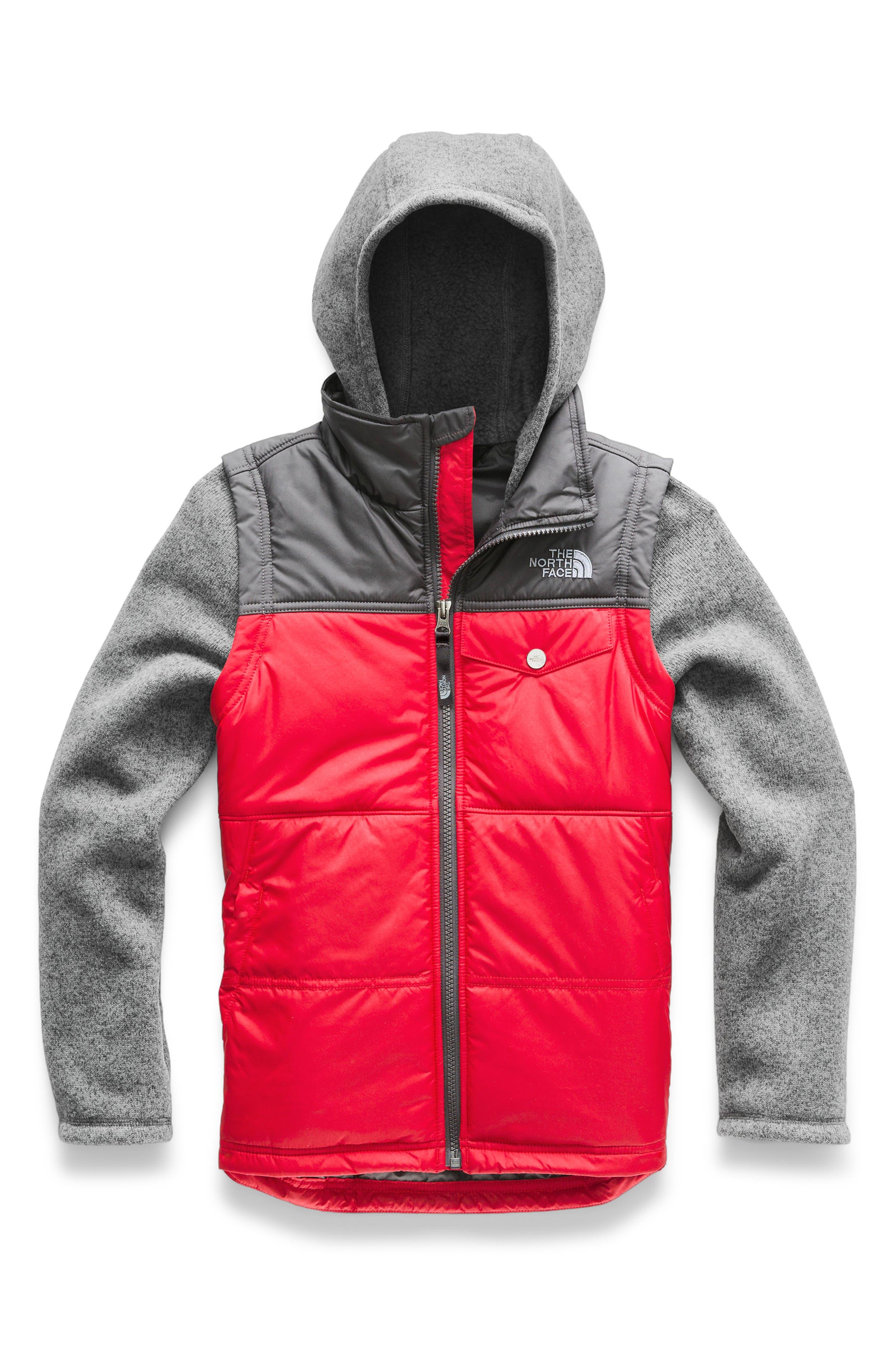 Gordon Lyons Varsity Vest Jacket,                             Main thumbnail 1, color,                             TNF RED