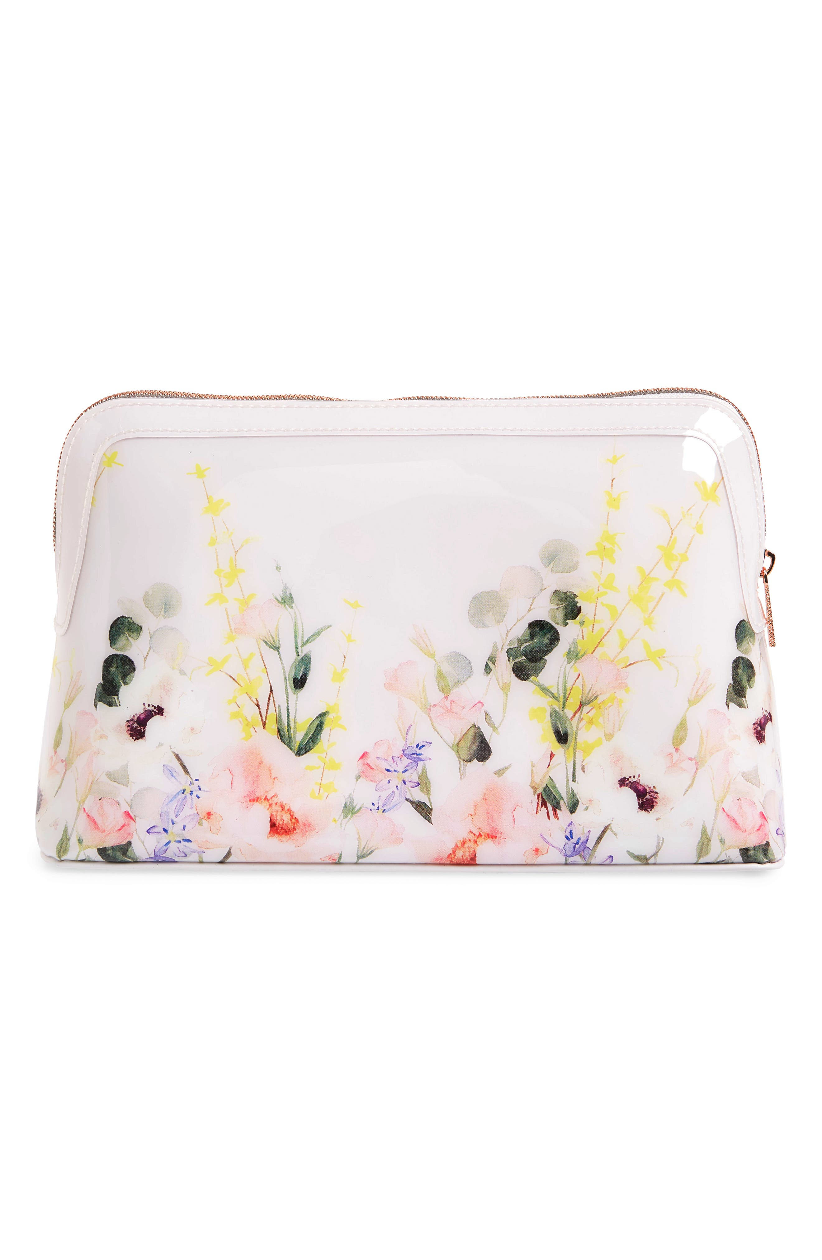 TED BAKER LONDON,                             Sybill Print Large Cosmetics Case,                             Alternate thumbnail 2, color,                             NUDE PINK