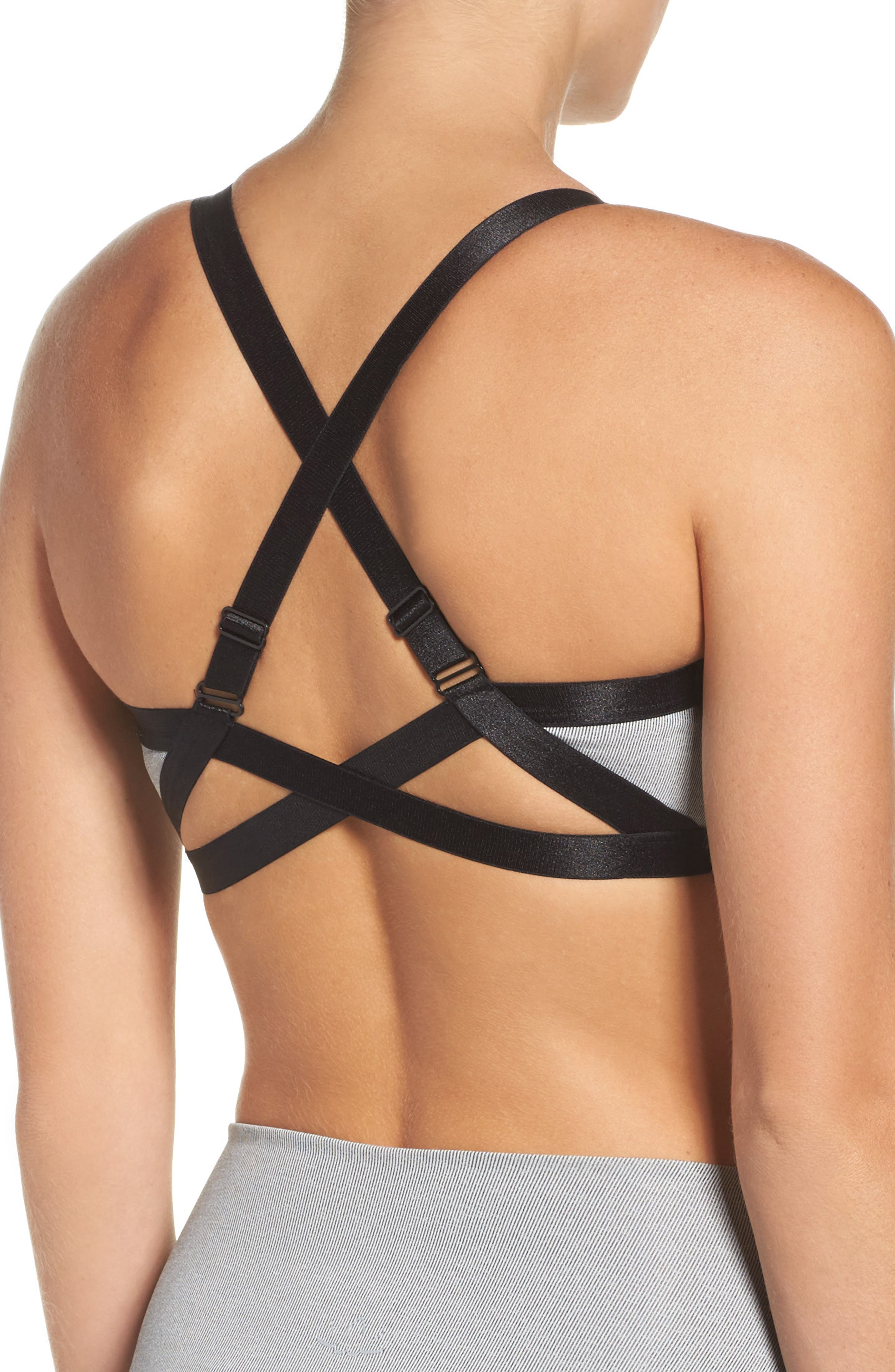 Overture Strappy Sports Bra,                             Alternate thumbnail 2, color,                             058