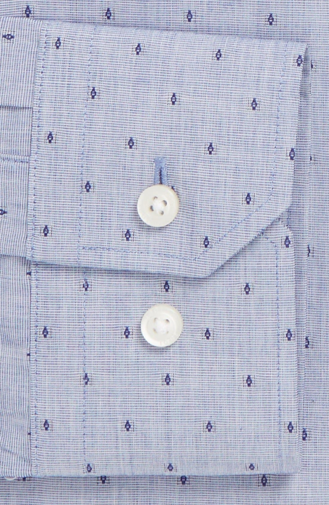 1901,                             Non-Iron Trim Fit Dobby Dress Shirt,                             Alternate thumbnail 2, color,                             450
