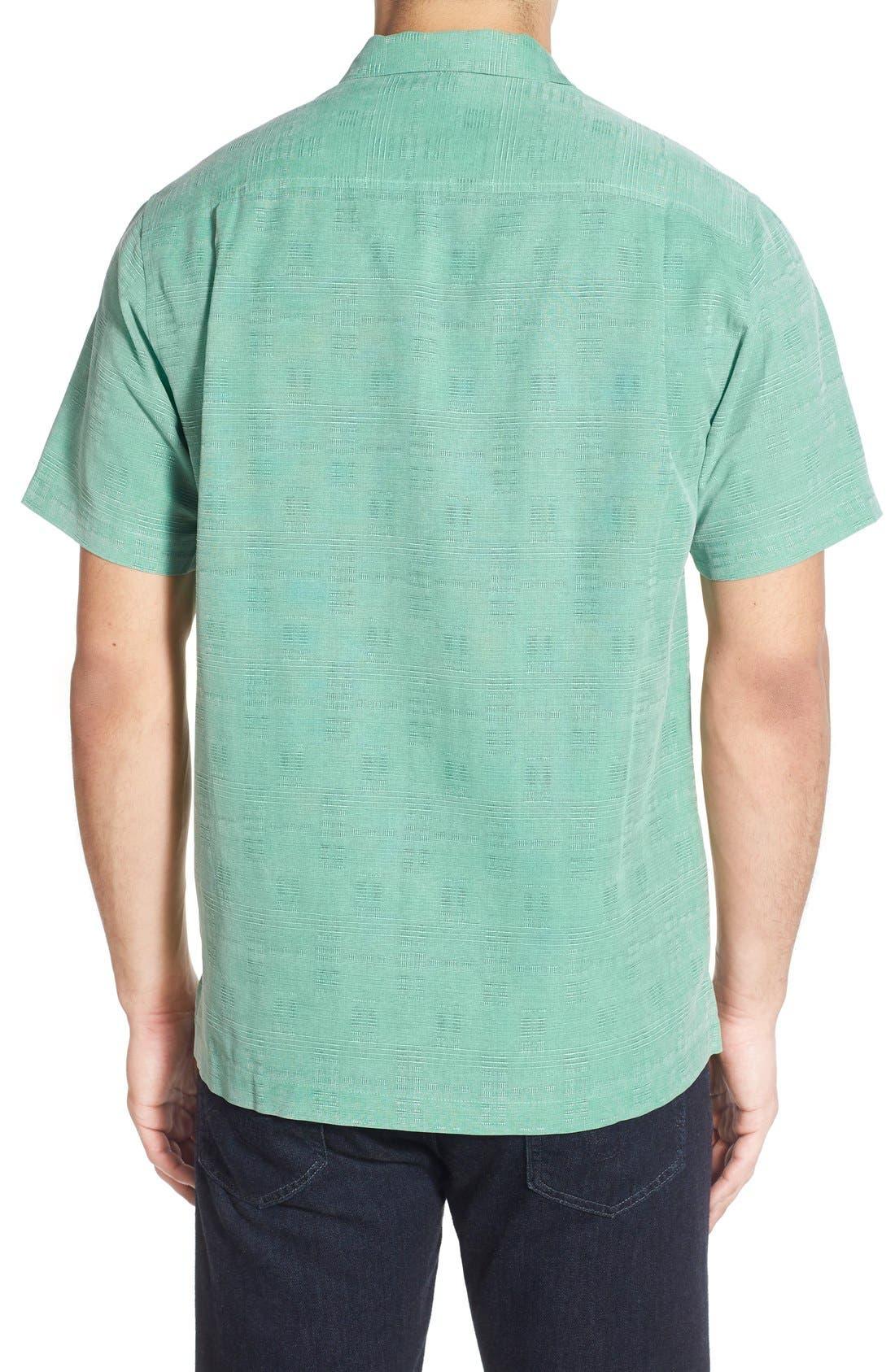 Original Fit Jacquard Silk Camp Shirt,                             Alternate thumbnail 8, color,