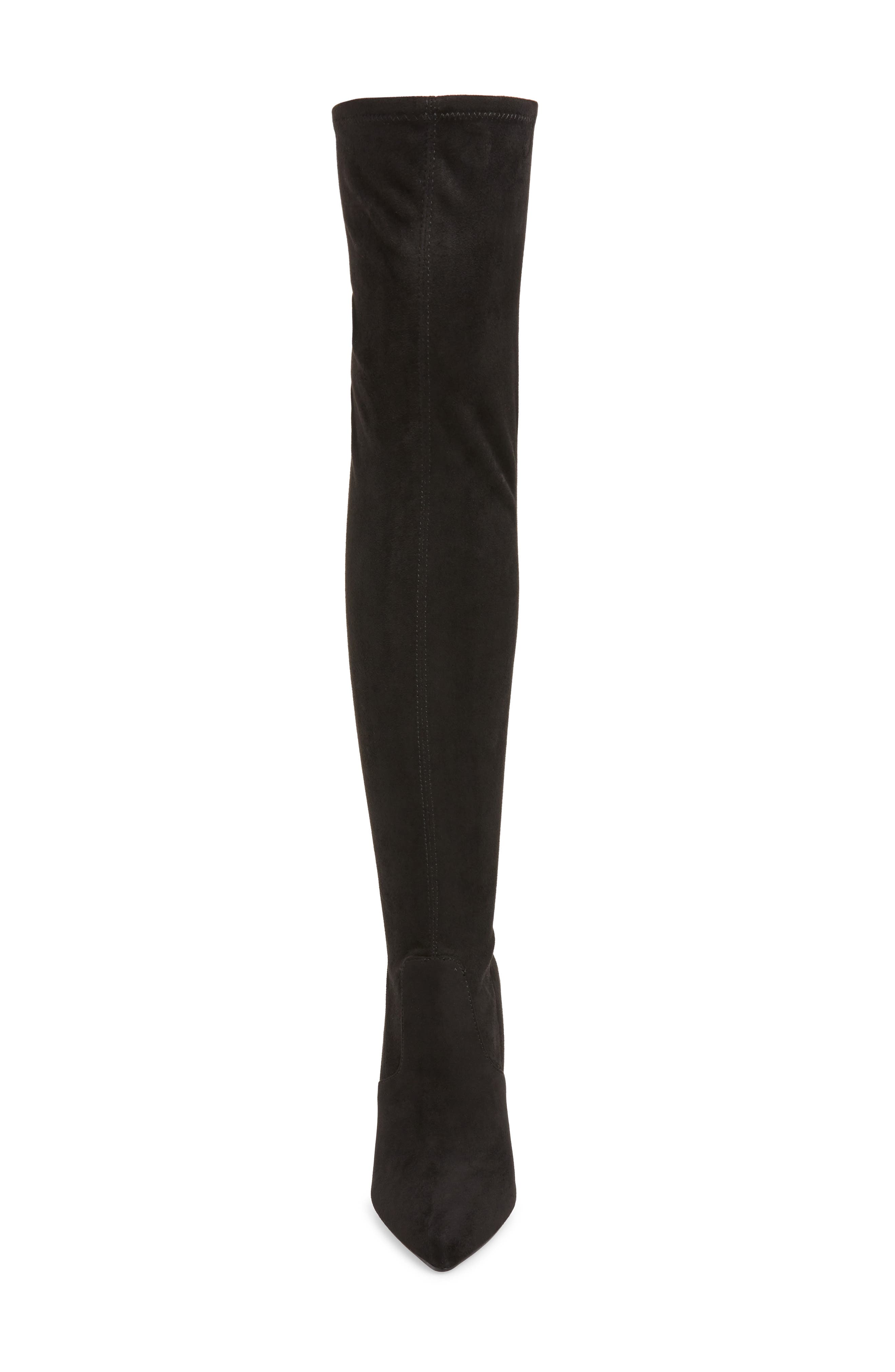 Devine Over the Knee Boot,                             Alternate thumbnail 4, color,                             BLACK SUEDE