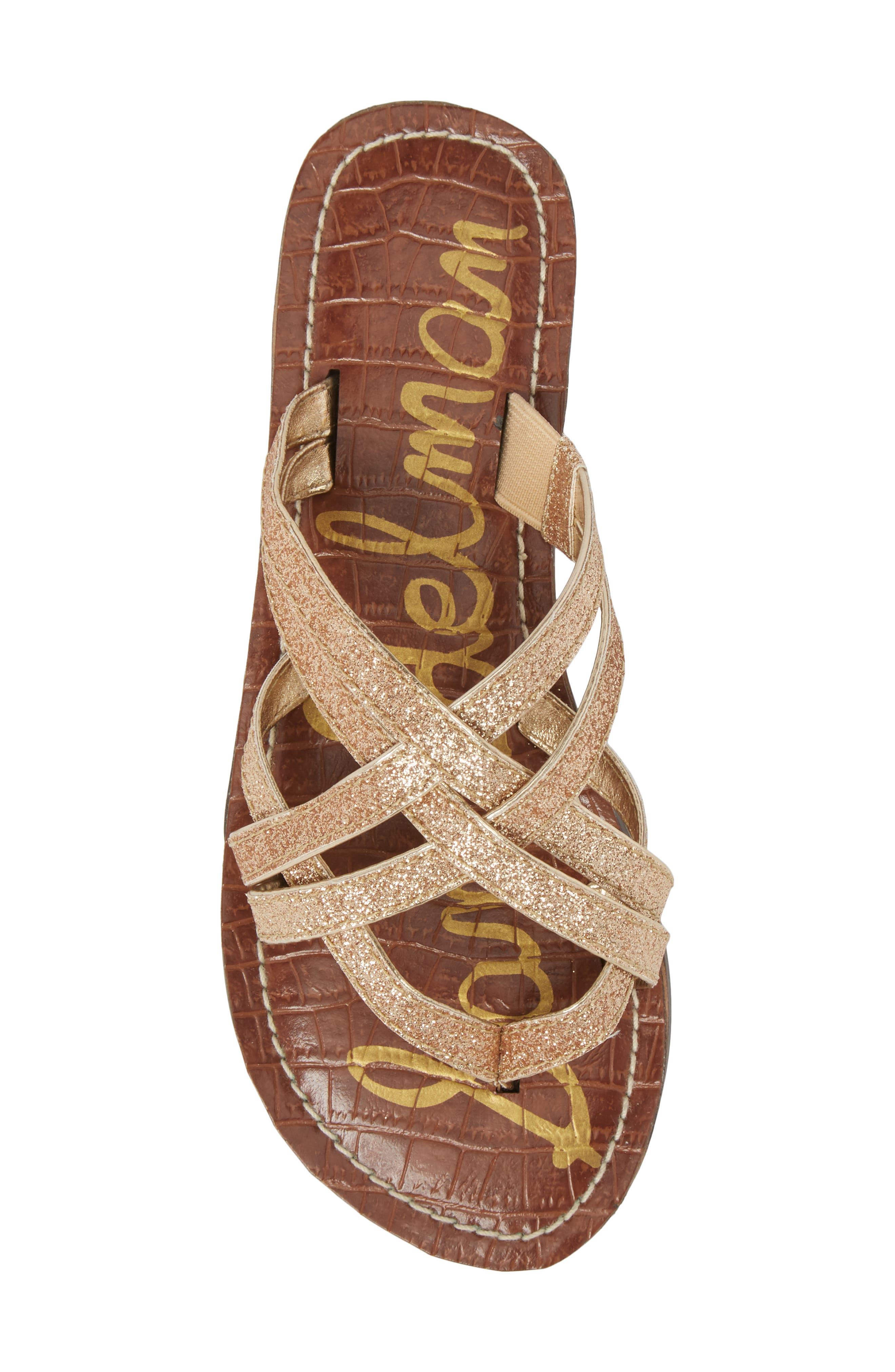 Georgette Glitter Flat Sandal,                             Alternate thumbnail 15, color,
