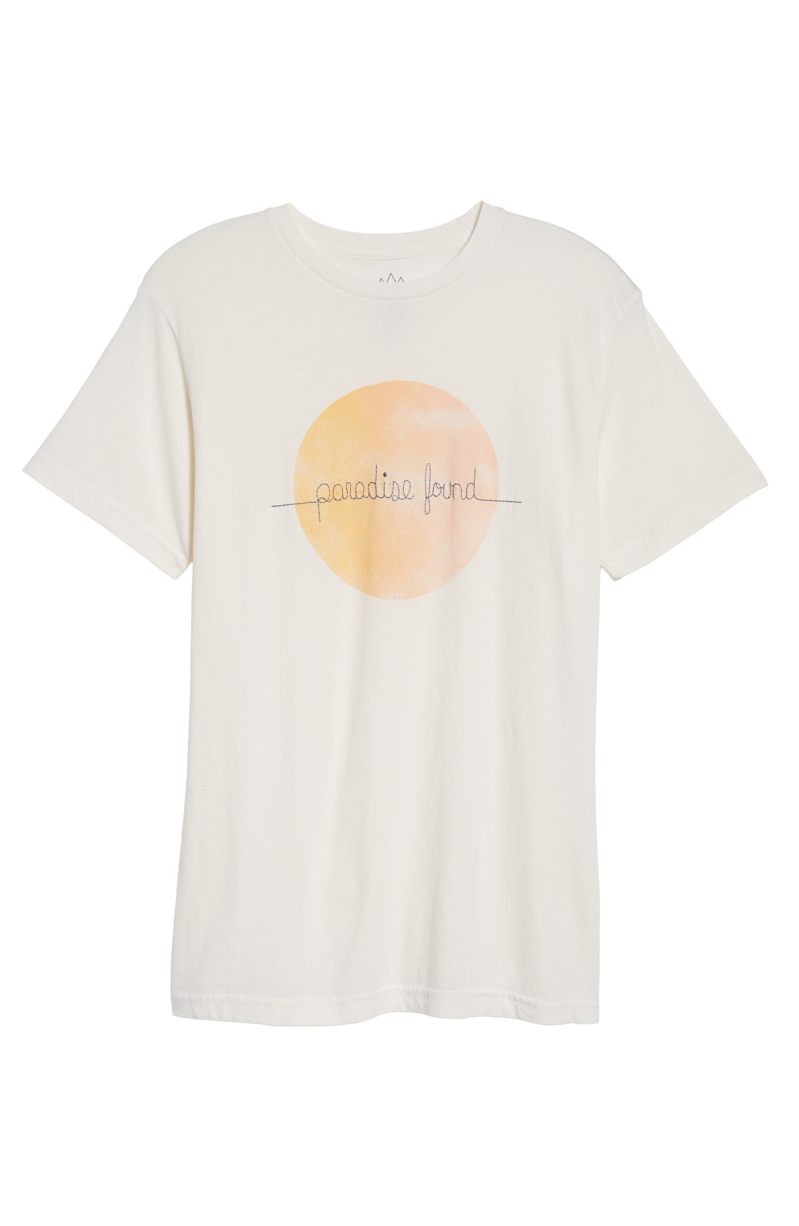 Paradise Found Embroidered T-Shirt,                             Alternate thumbnail 6, color,                             101