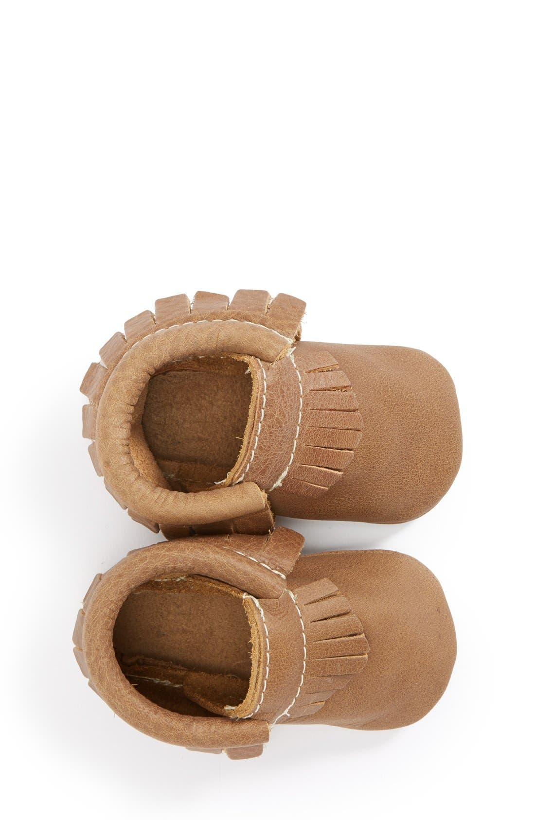 Leather Moccasin,                             Alternate thumbnail 3, color,                             WEATHERED BROWN