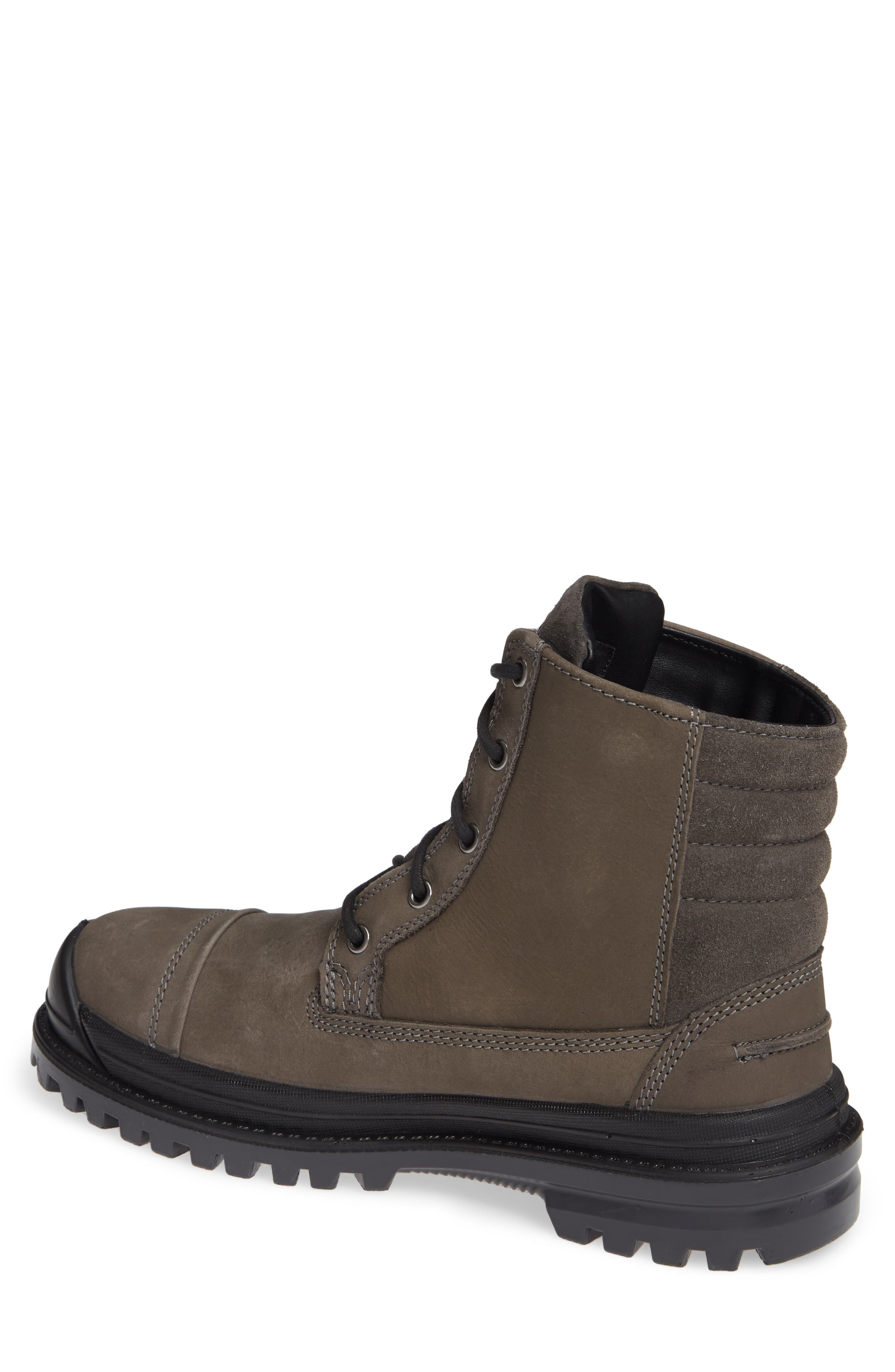 Griffon Waterproof Boot,                             Alternate thumbnail 2, color,                             CHARCOAL LEATHER