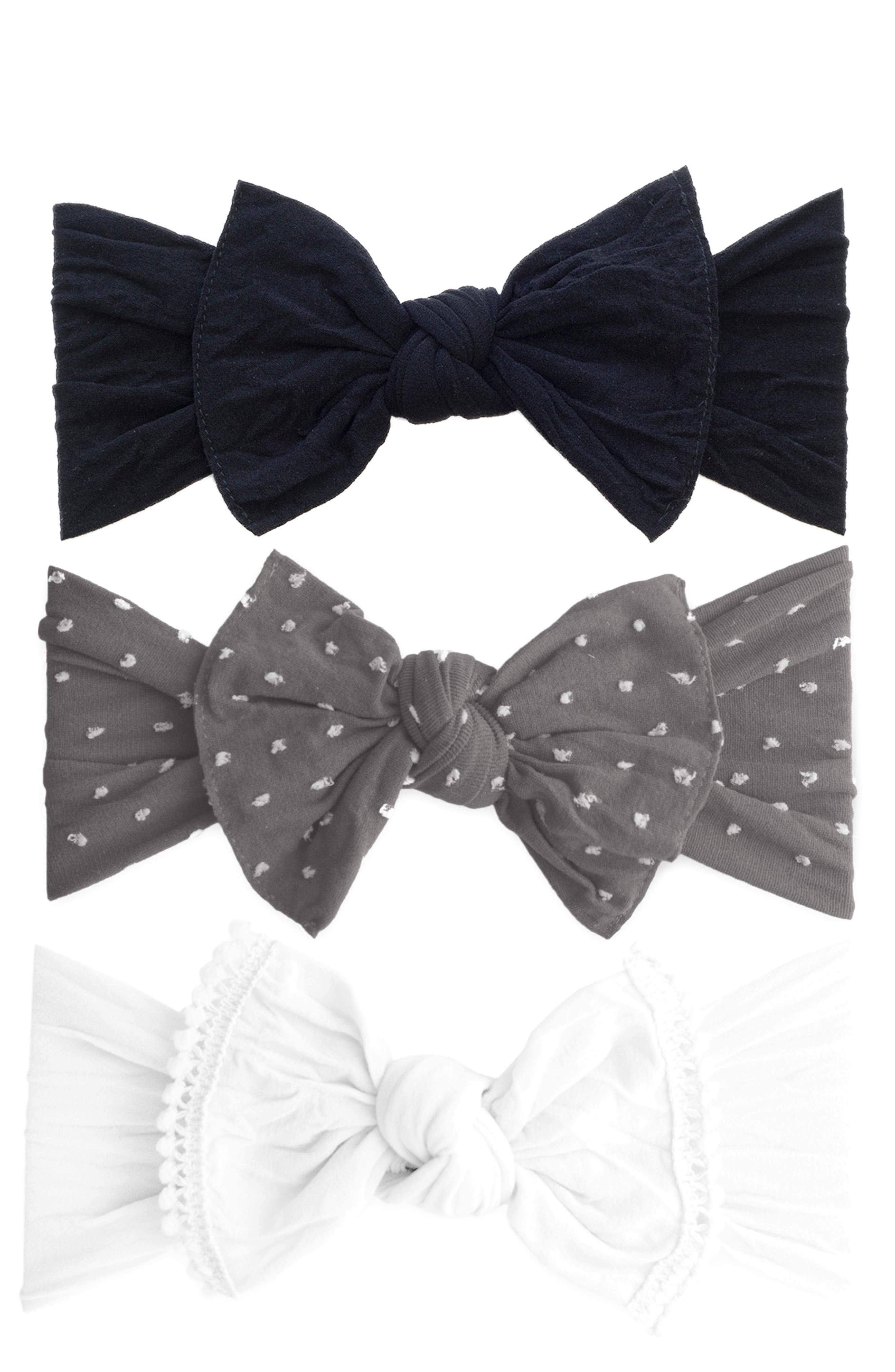 3-Pack Bow Headband,                             Alternate thumbnail 2, color,                             020