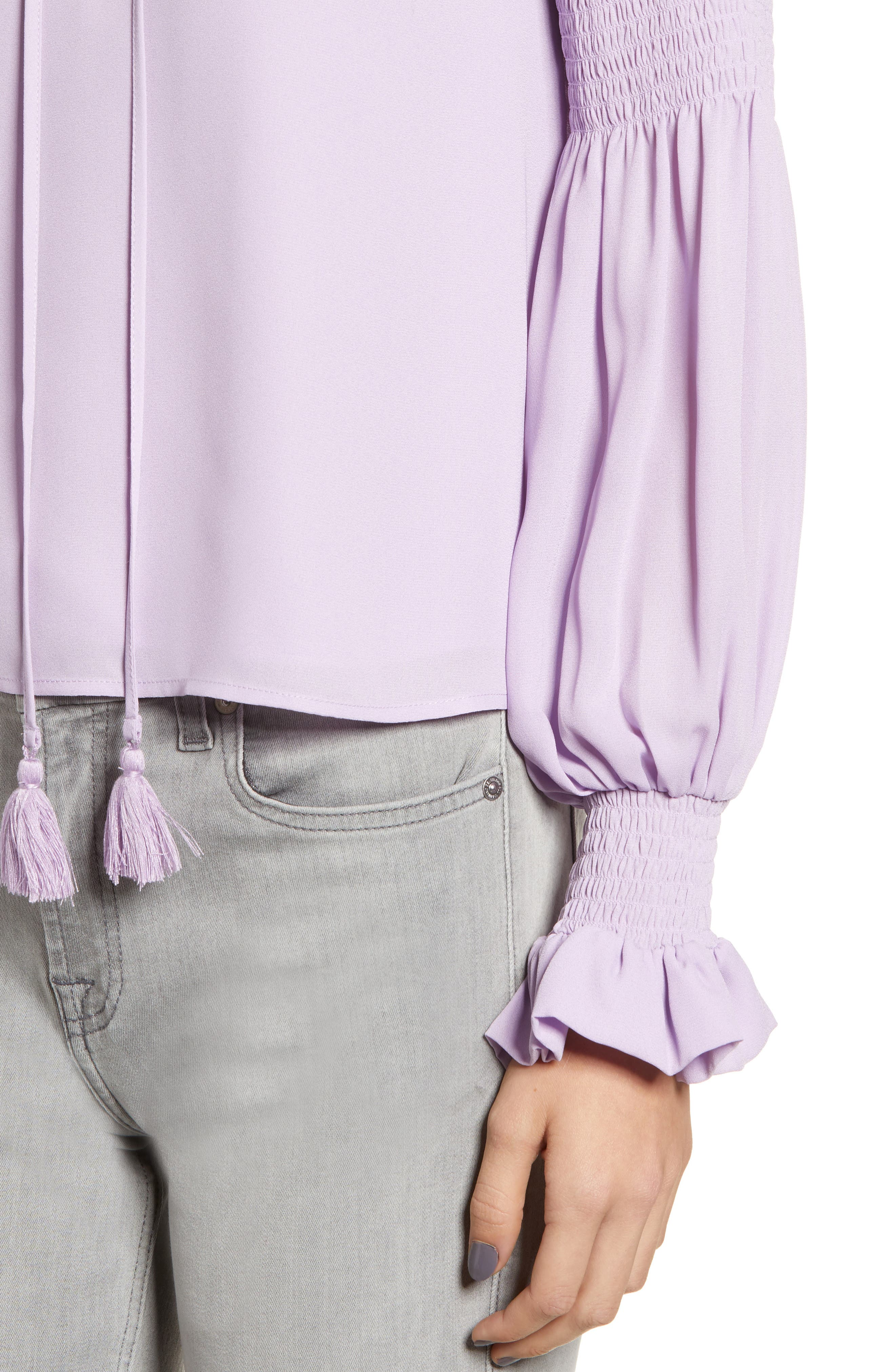 Penelope Ruffle Top,                             Alternate thumbnail 4, color,                             LILAC
