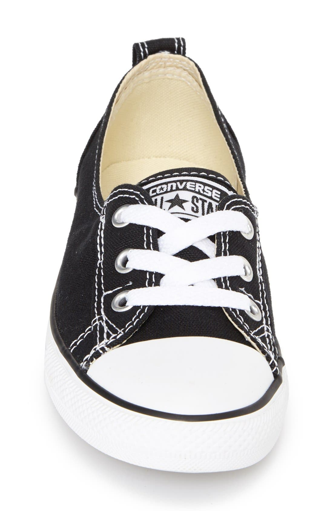 Chuck Taylor<sup>®</sup> All Star<sup>®</sup> Ballet Canvas Sneaker,                             Alternate thumbnail 6, color,                             001