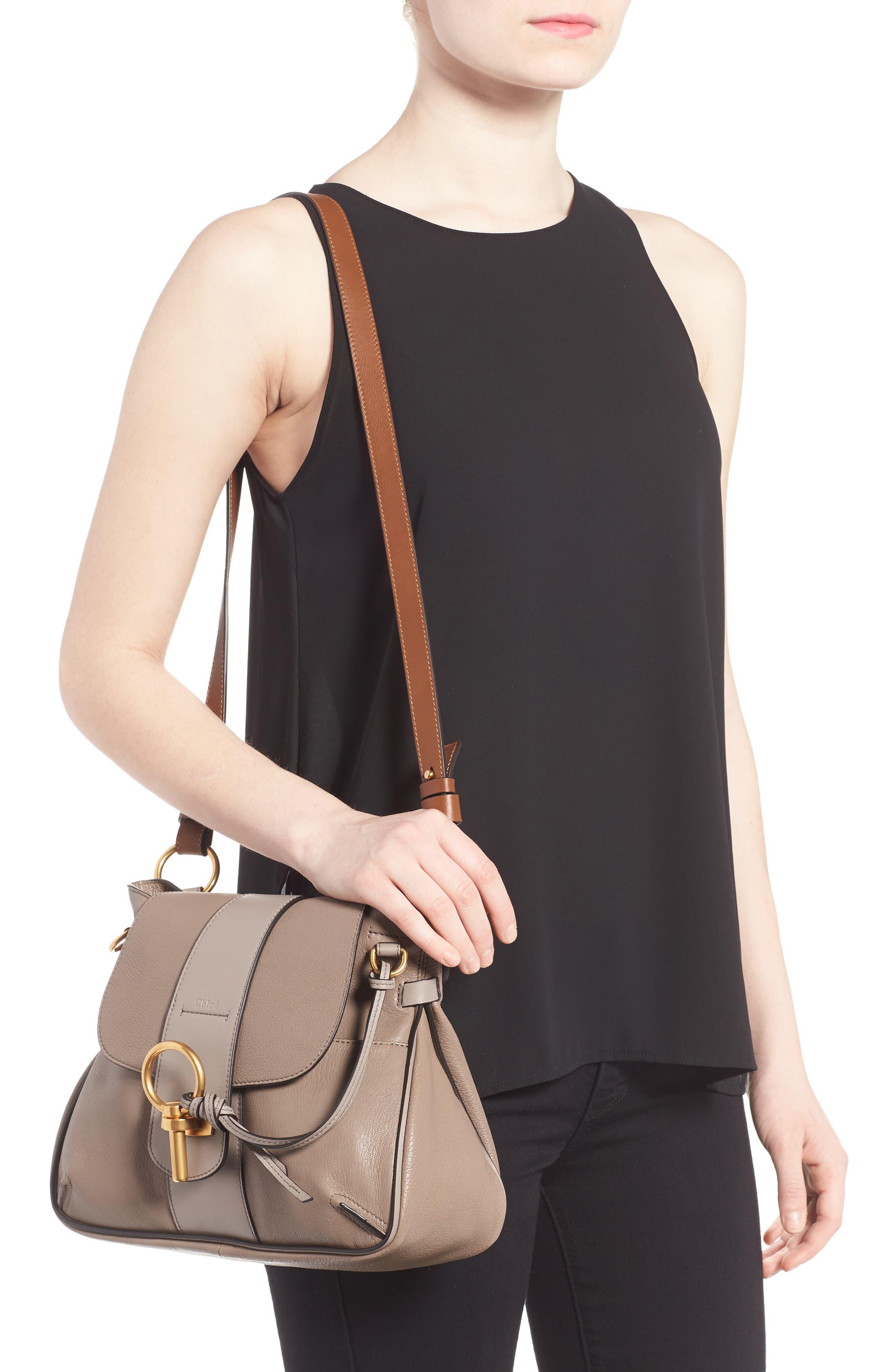 CHLOÉ,                             Small Lexa Leather Shoulder Bag,                             Alternate thumbnail 2, color,                             031