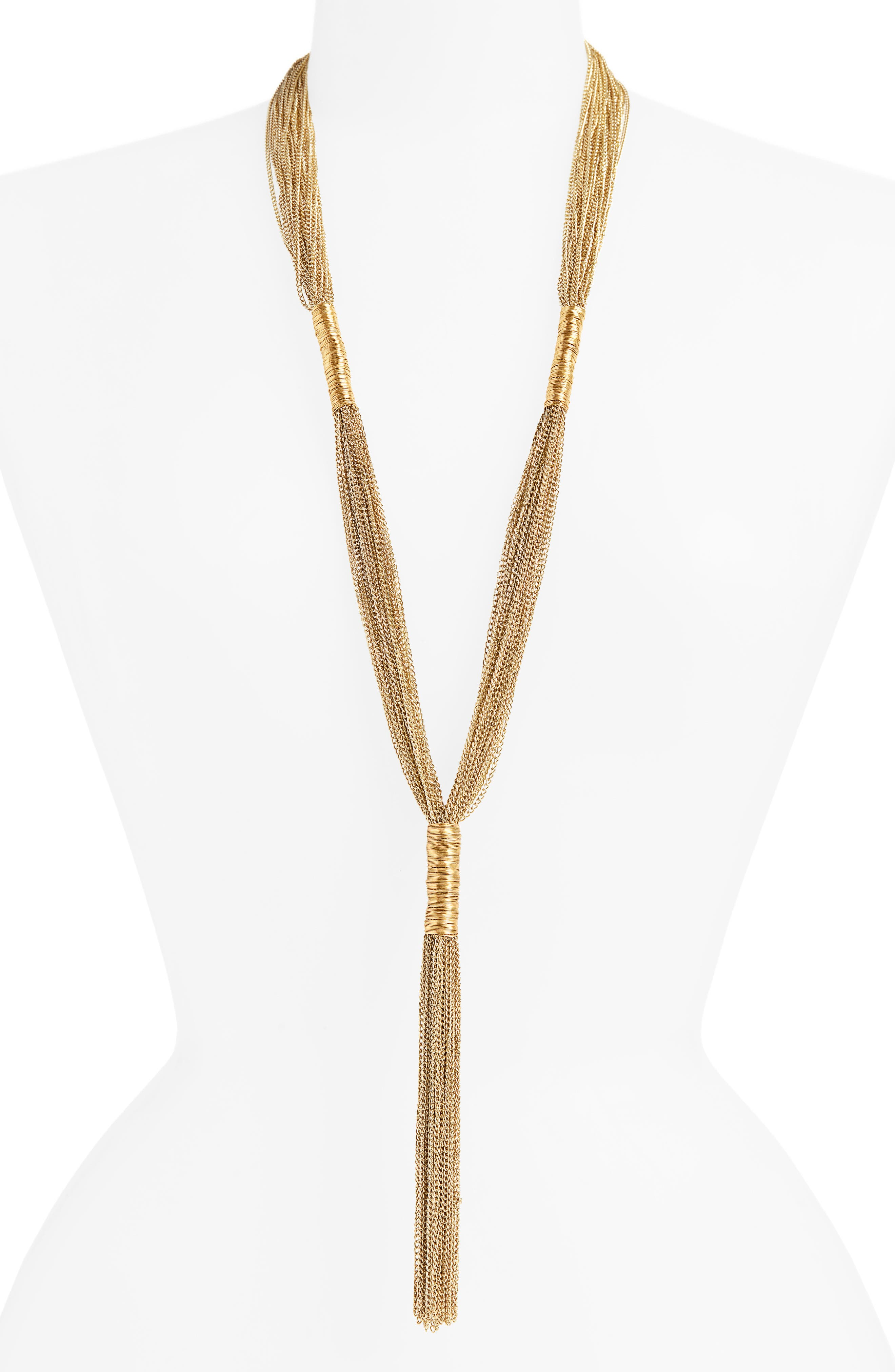 Normandie Multistrand Y-Necklace,                             Main thumbnail 1, color,                             GOLD