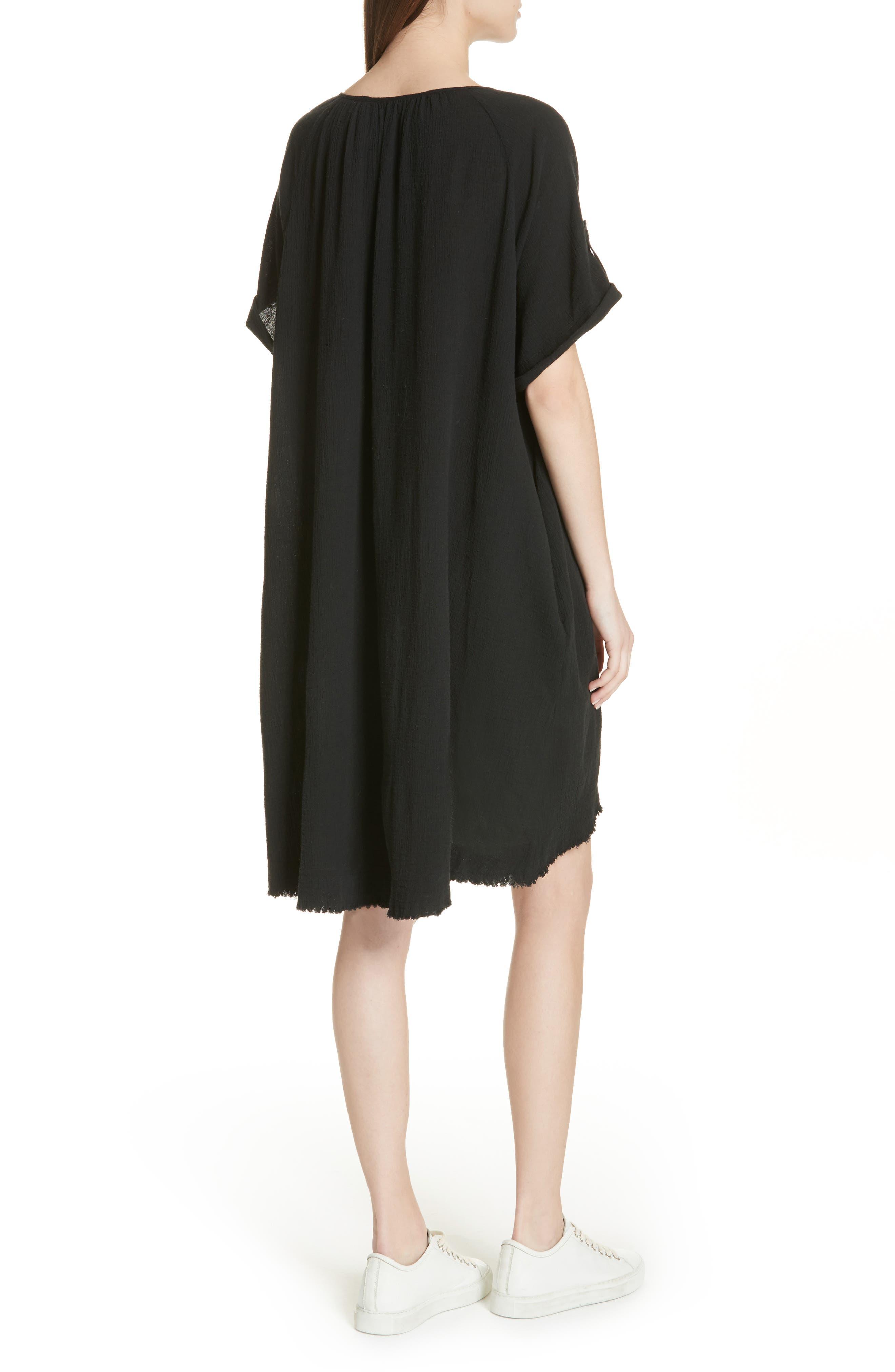 Gauze Dress,                             Alternate thumbnail 2, color,                             001
