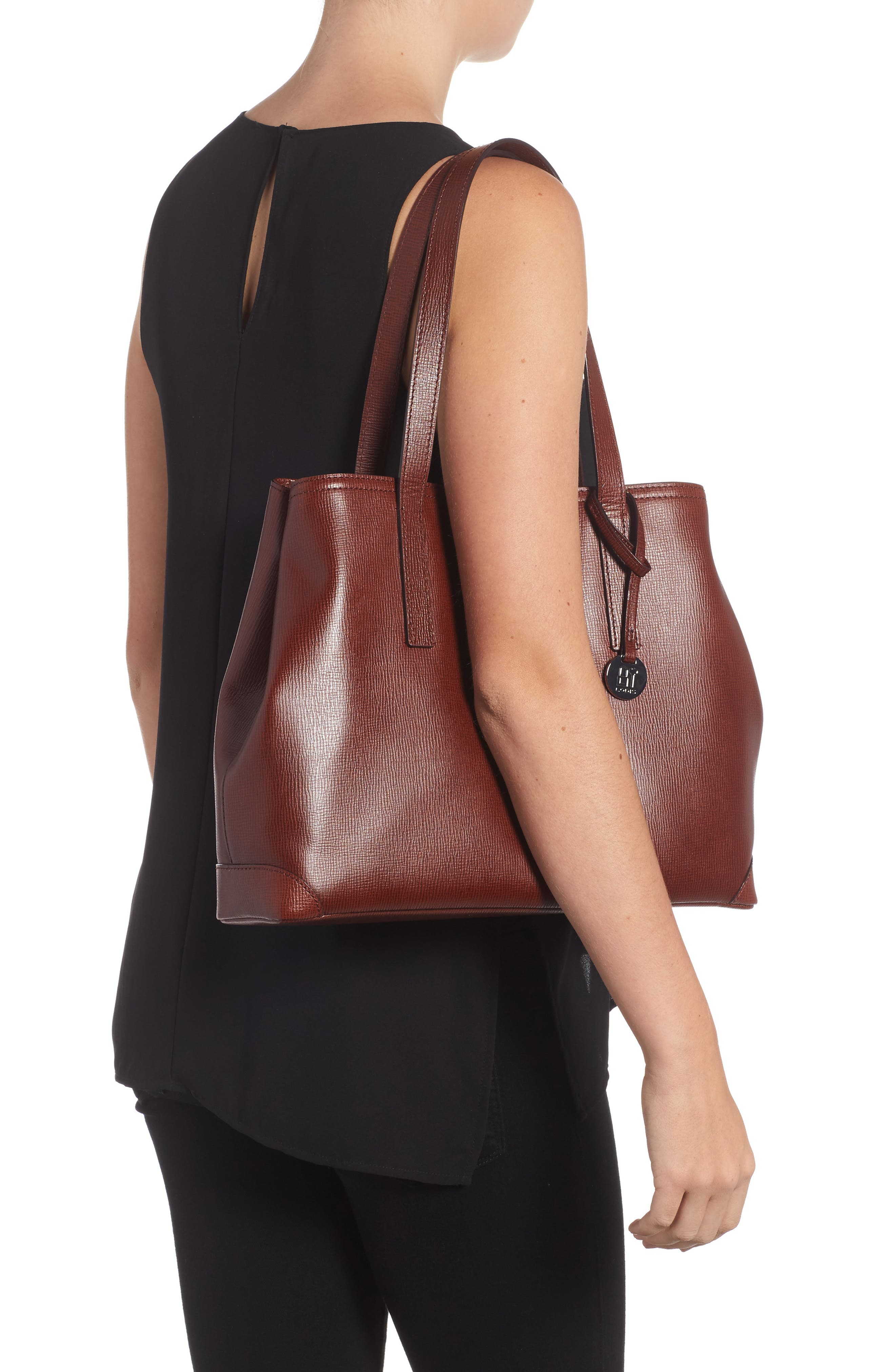 Business Chic Louisa RFID-Protected Leather Tote,                             Alternate thumbnail 8, color,
