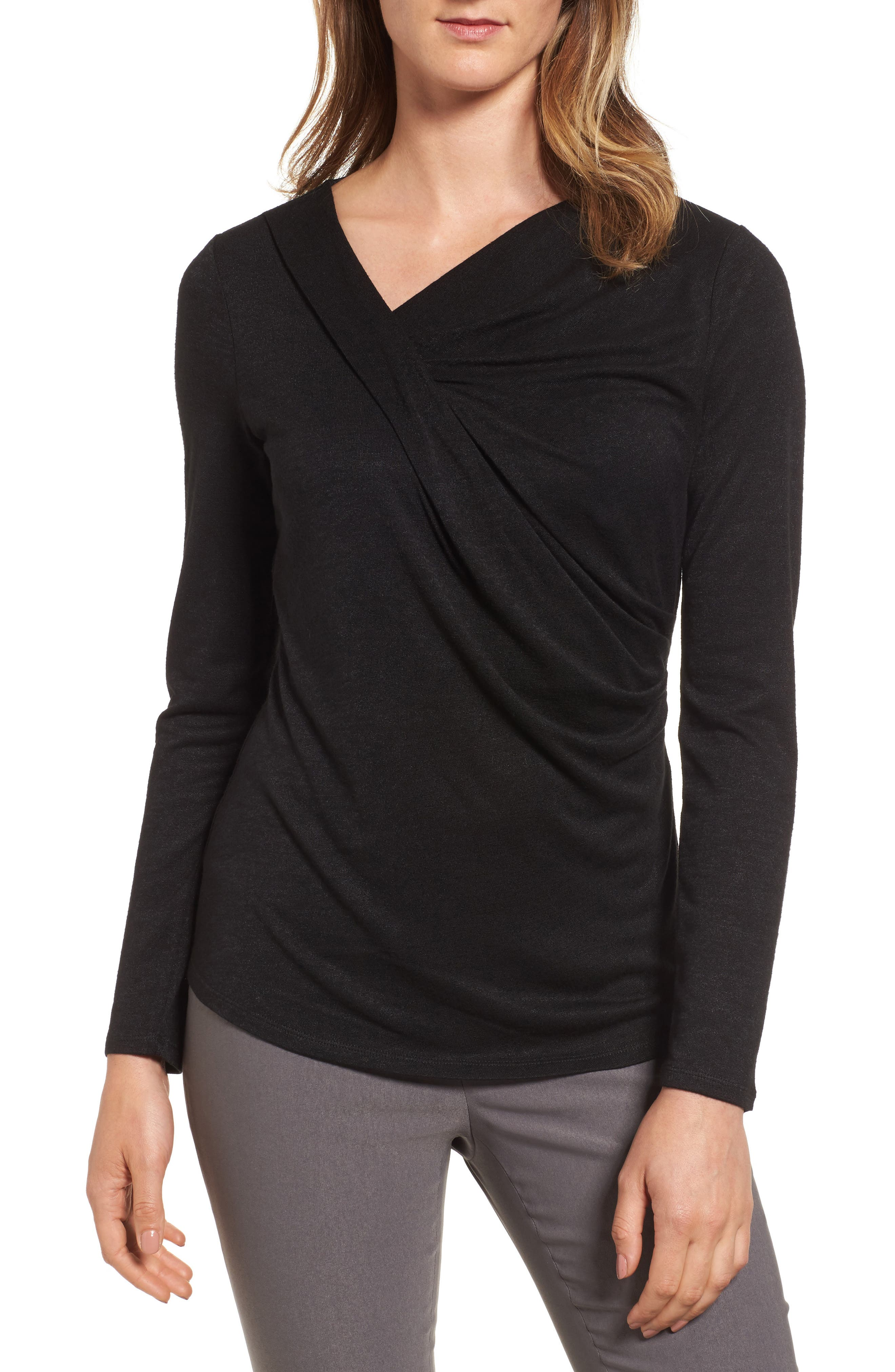 Every Occasion Drape Top,                             Main thumbnail 1, color,                             004